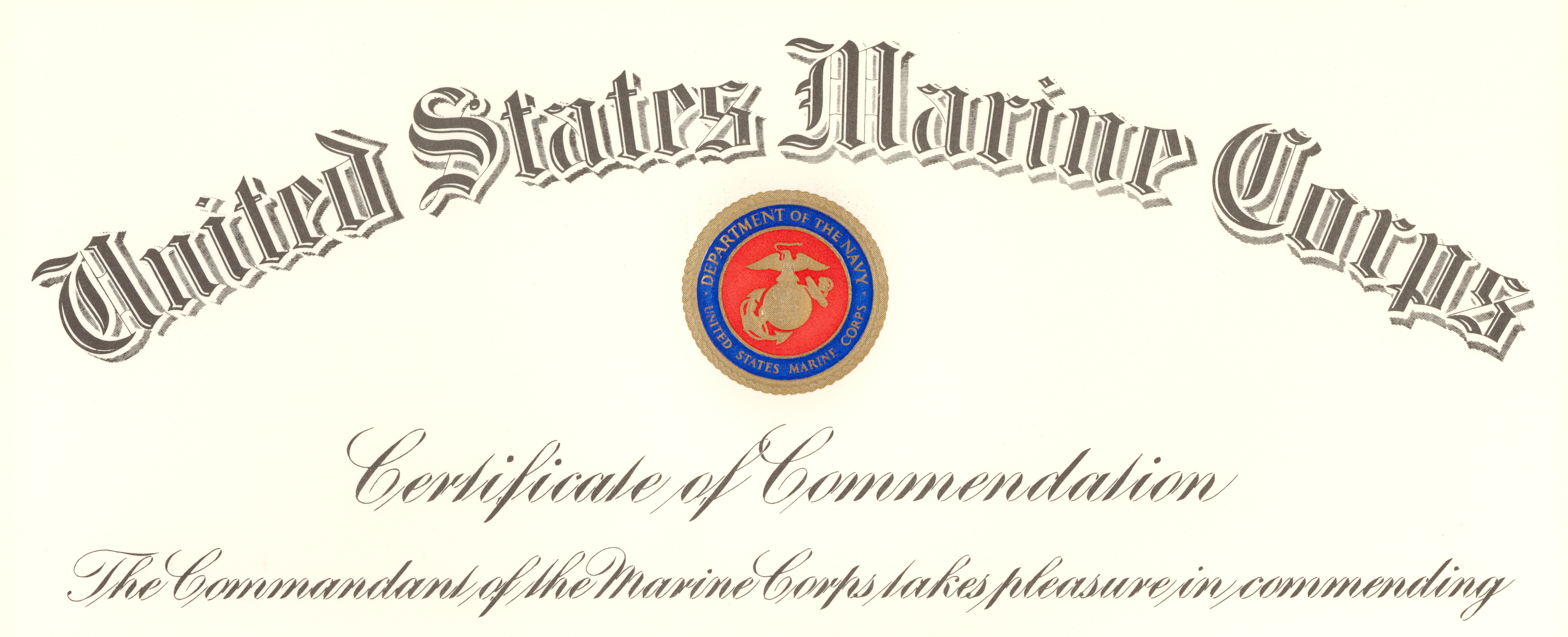 Filecommandant of the marine corps certificate of commendation filecommandant of the marine corps certificate of commendation 001g yadclub Gallery