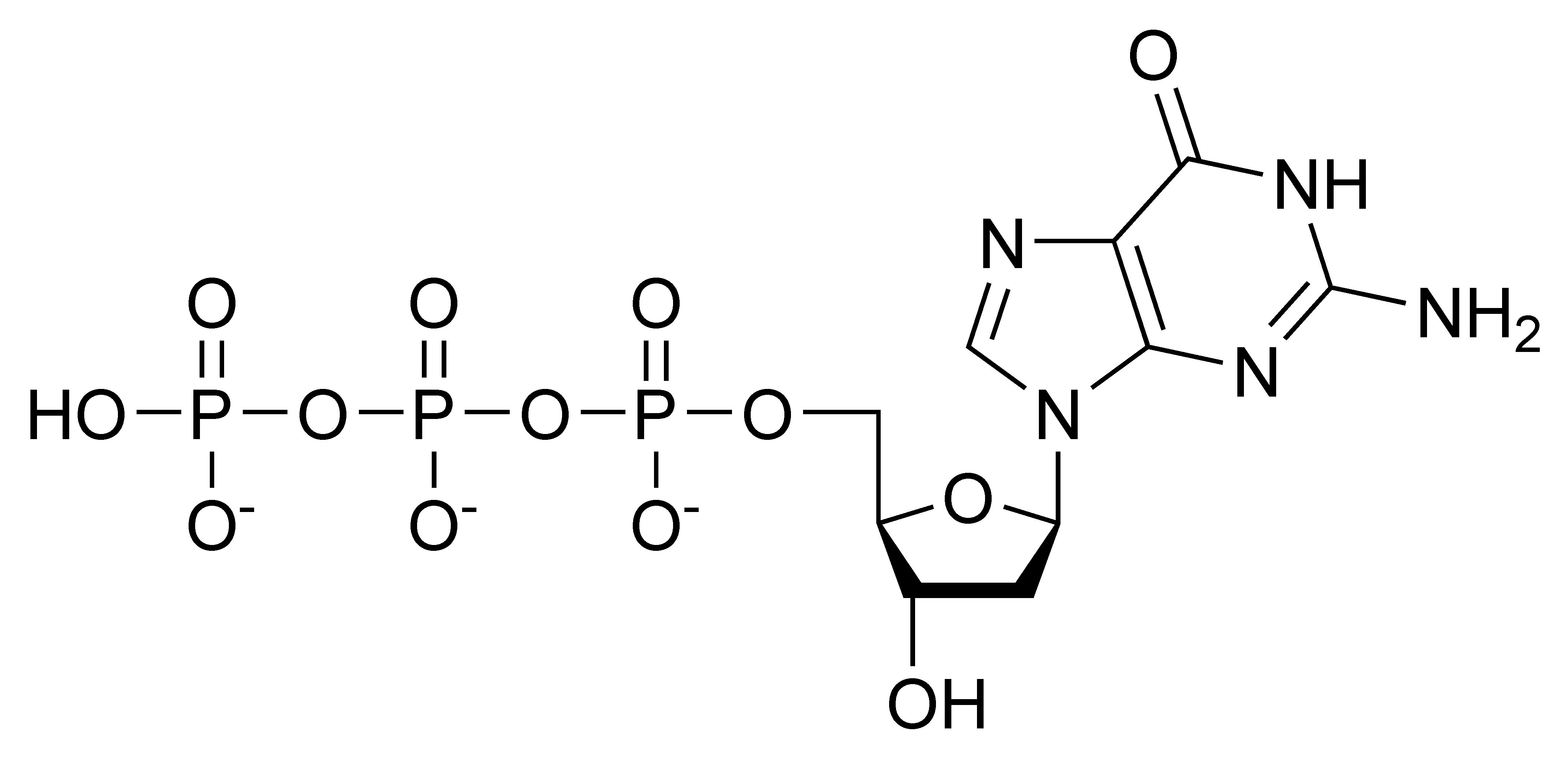 Chemical structure of deoxyguanosine triphosphate