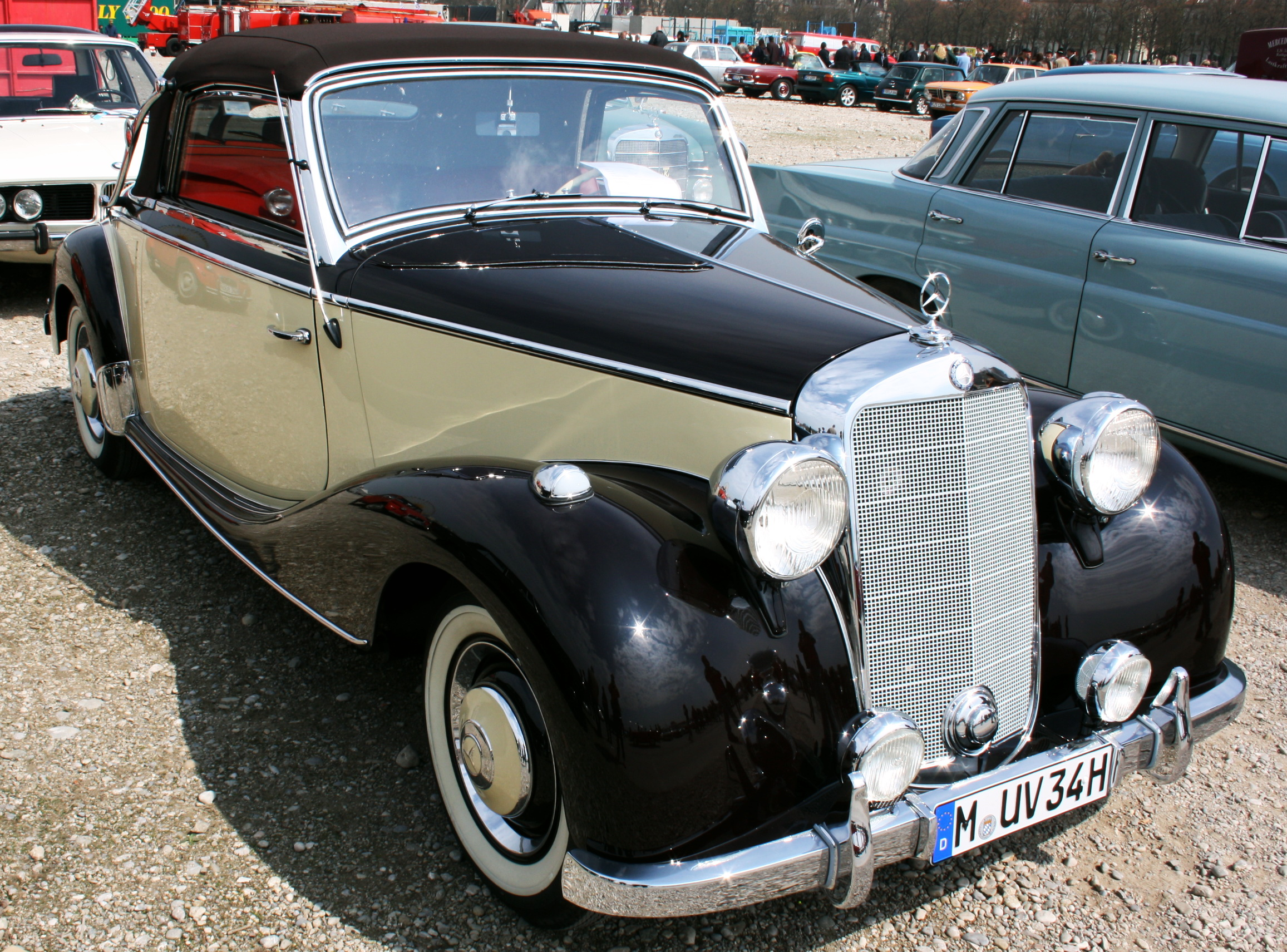 file daimler benz 170 s cabriolet a bj 1950 1767ccm 120kmh wikimedia commons. Black Bedroom Furniture Sets. Home Design Ideas