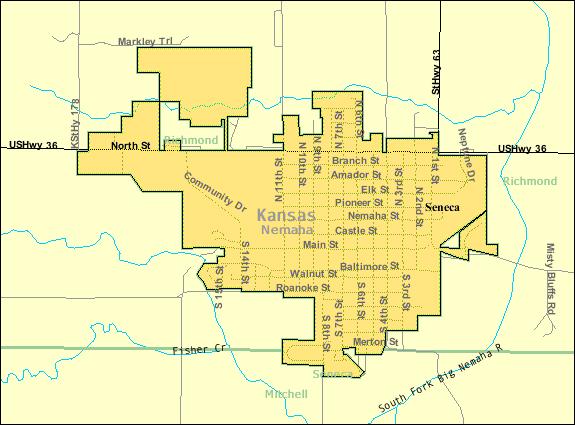 Citaten Seneca Ks : File detailed map of seneca kansas wikimedia commons