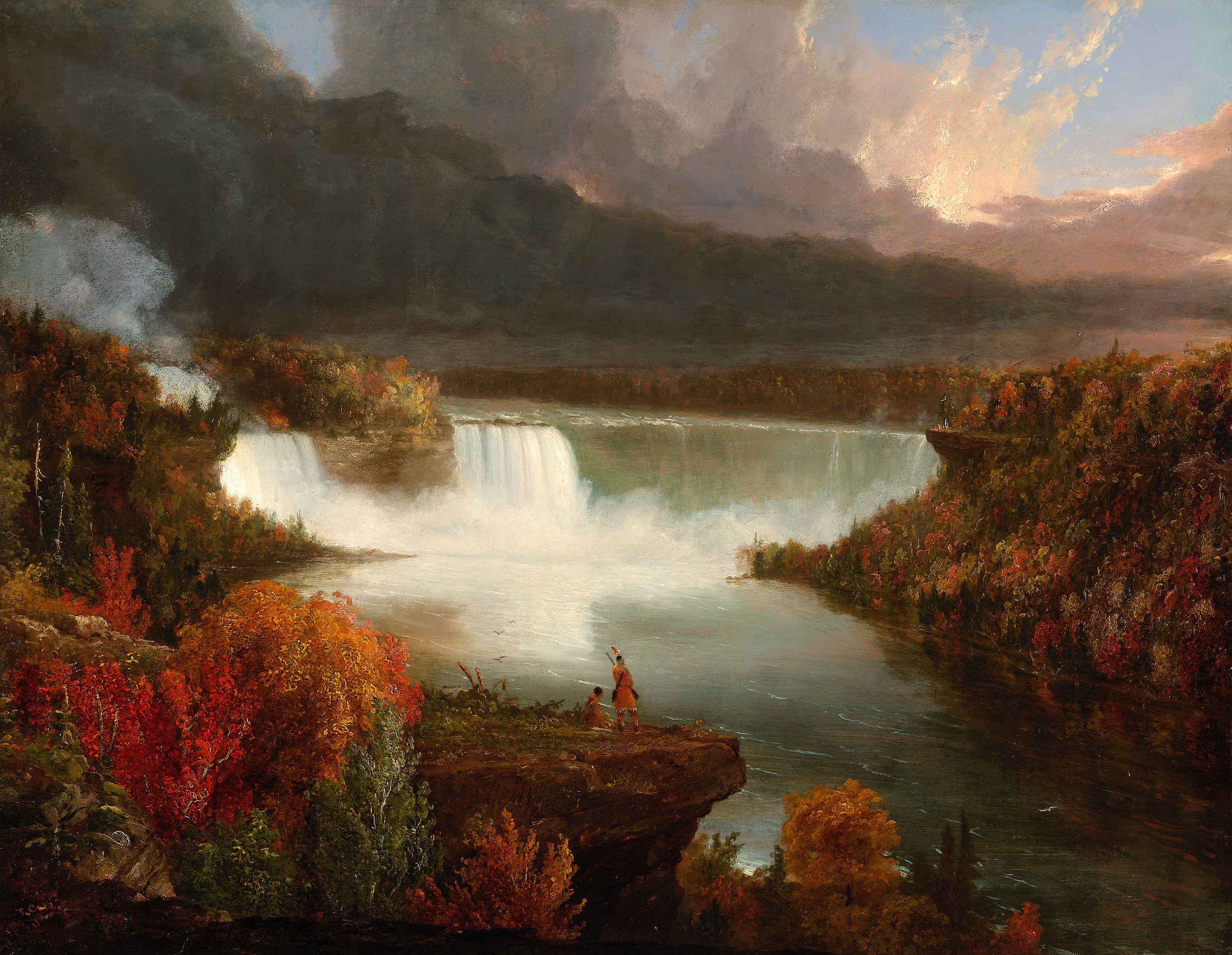 Thomas Cole - Page 2 Distant_View_of_Niagara_Falls_1830_Thomas_Cole