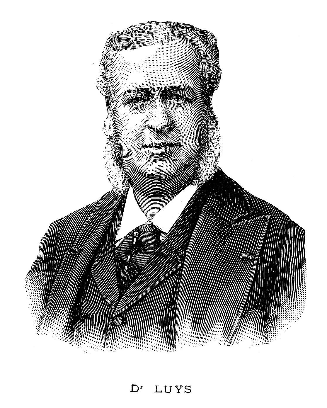 Dr. Luys em gravura no ano de sua morte: 1897.