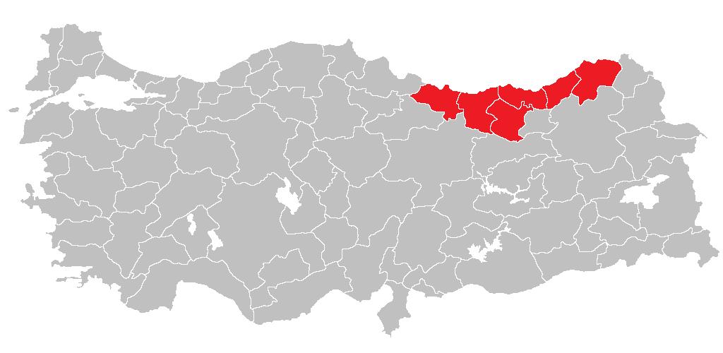 Location of Doğu Karadeniz Bölgesi
