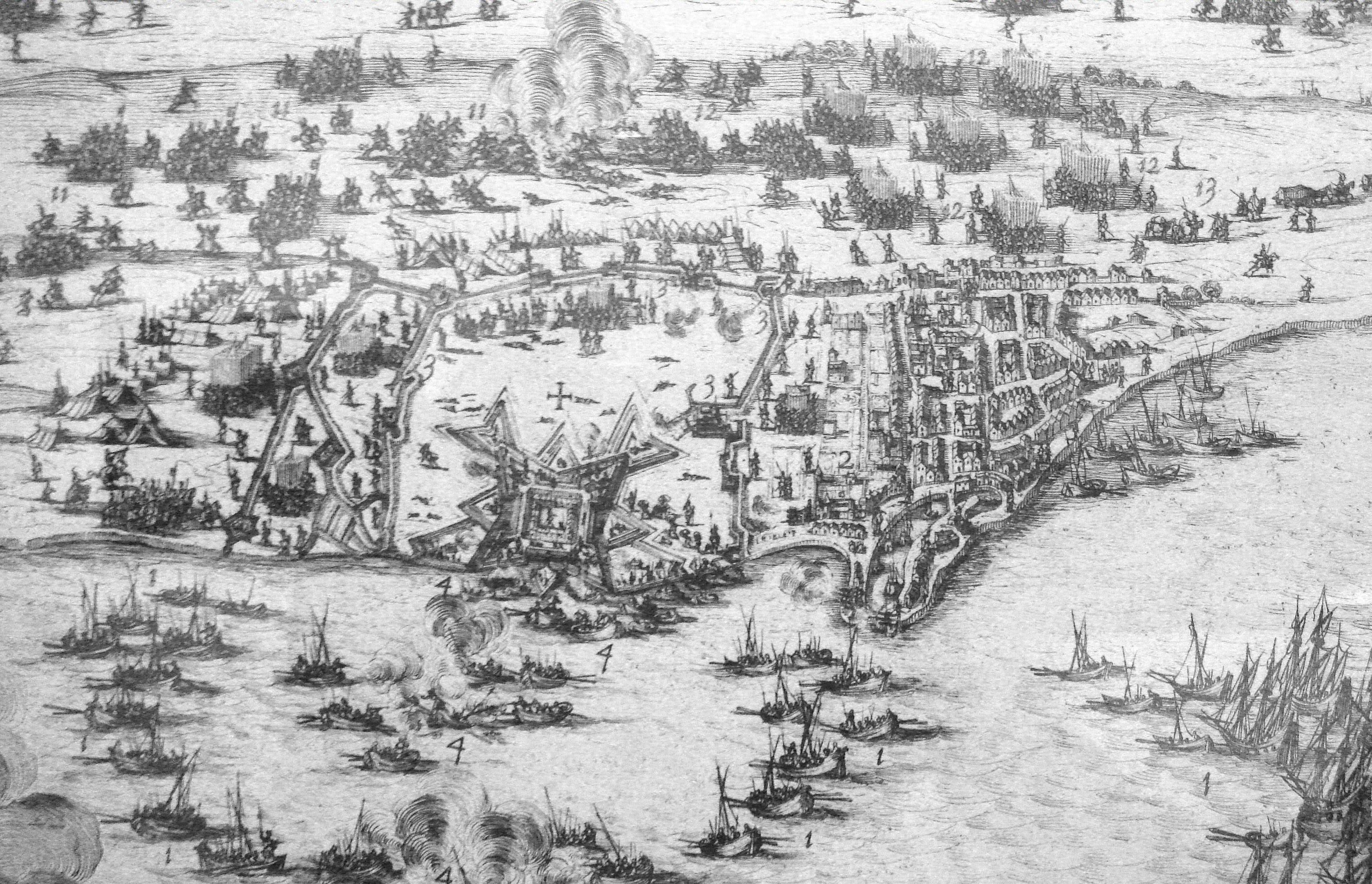 Файл:English Siege of Saint Martin 1627.jpg