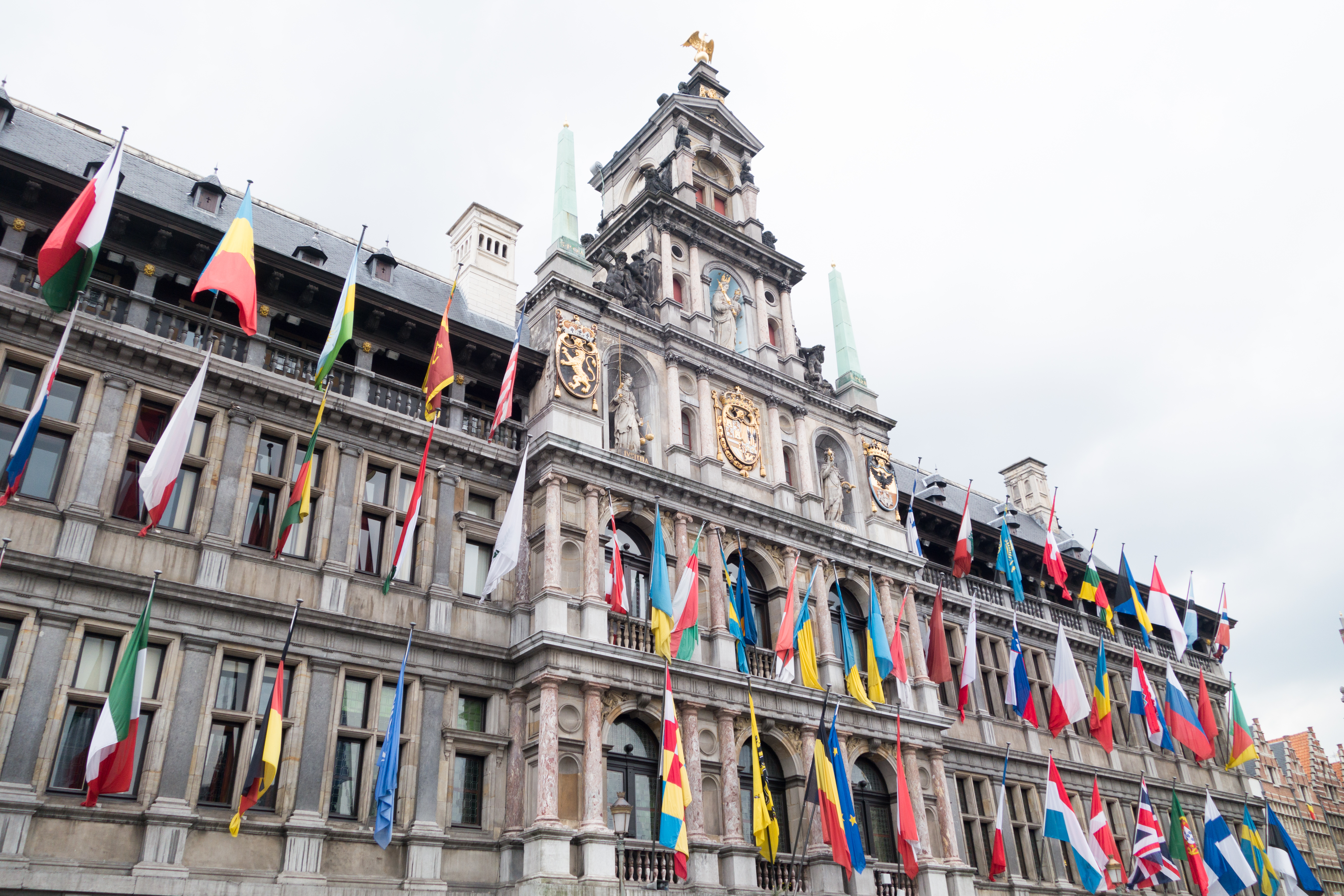 File Flags At Antwerp City Hall 26856649055 Jpg Wikimedia Commons
