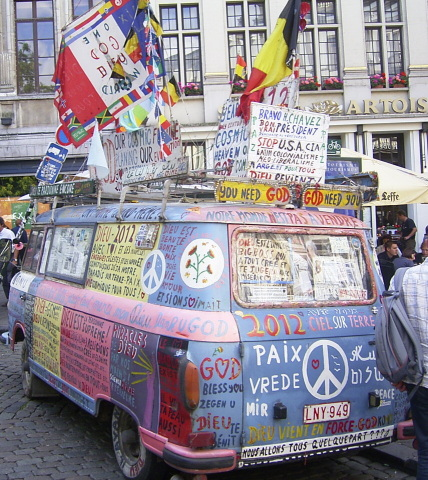 Flower Power Bus - 1960s