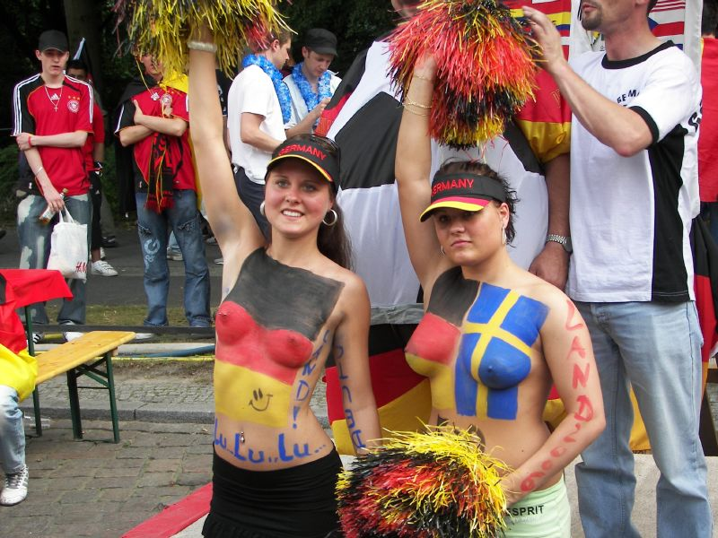 Advise you Swedish world cup body paint girls are