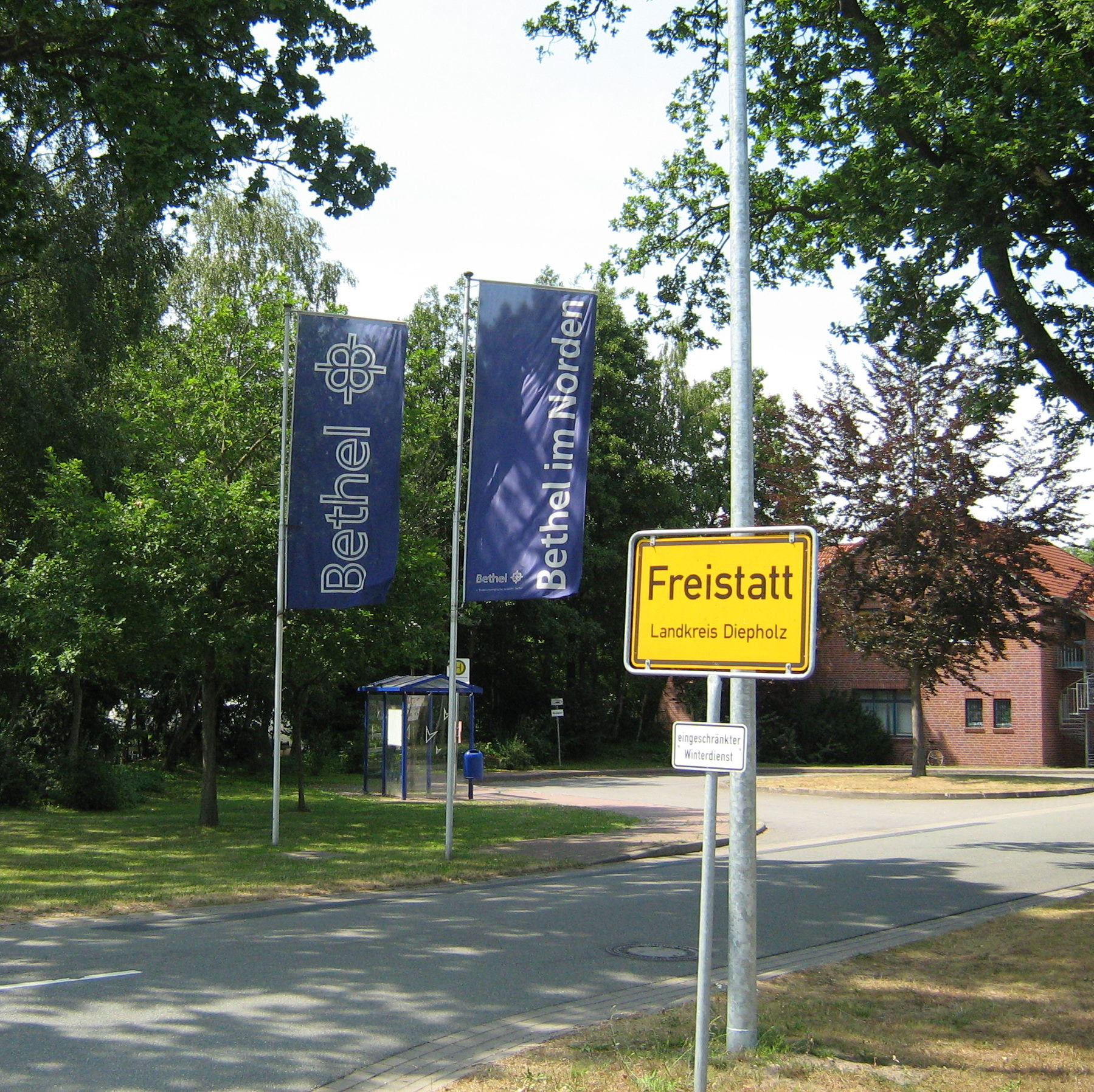 Freistatt Ortseinfahrt - Quelle: WikiCommons,
