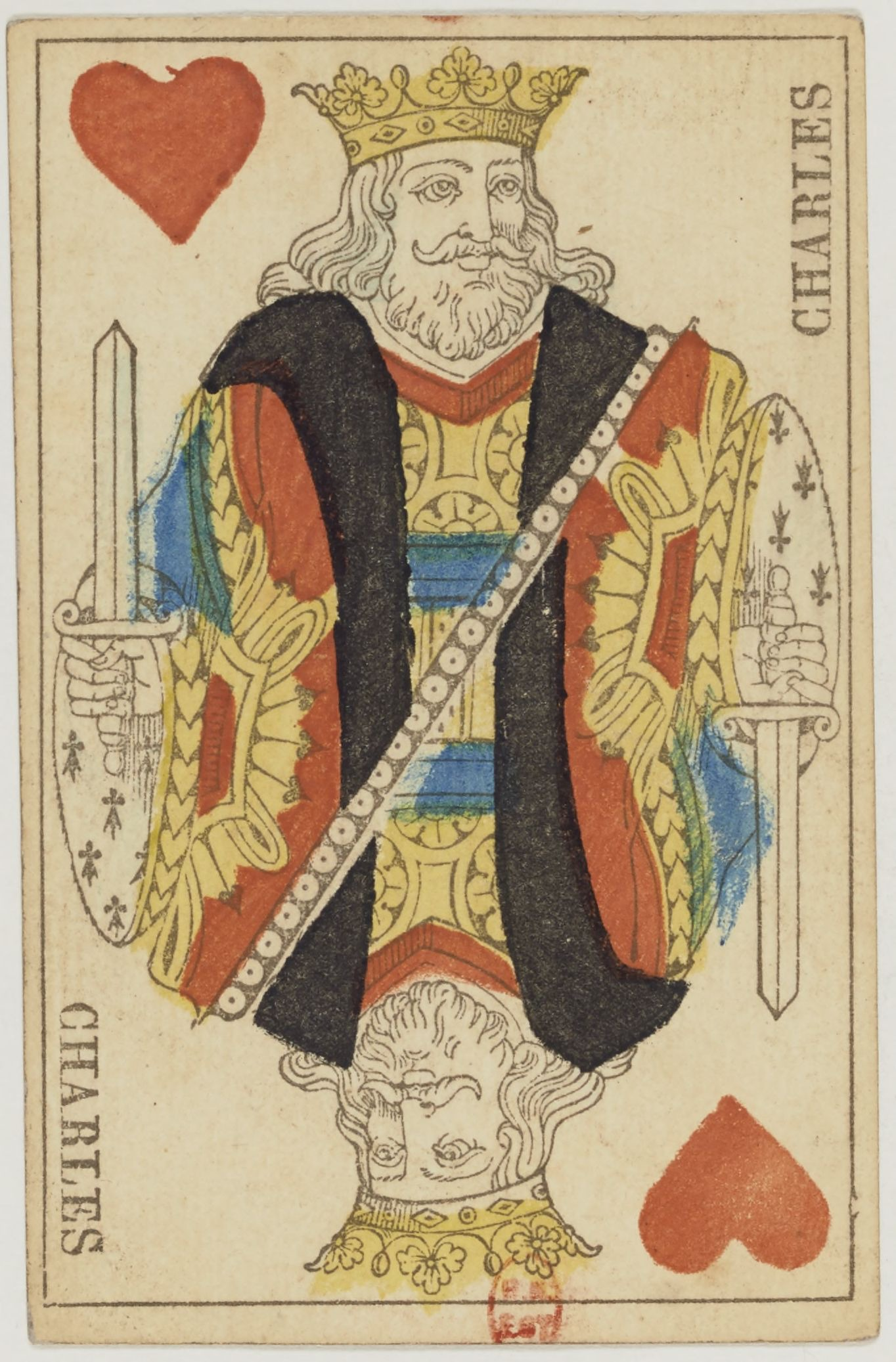File:French Portrait card deck - 1827 - King of Hearts.jpg