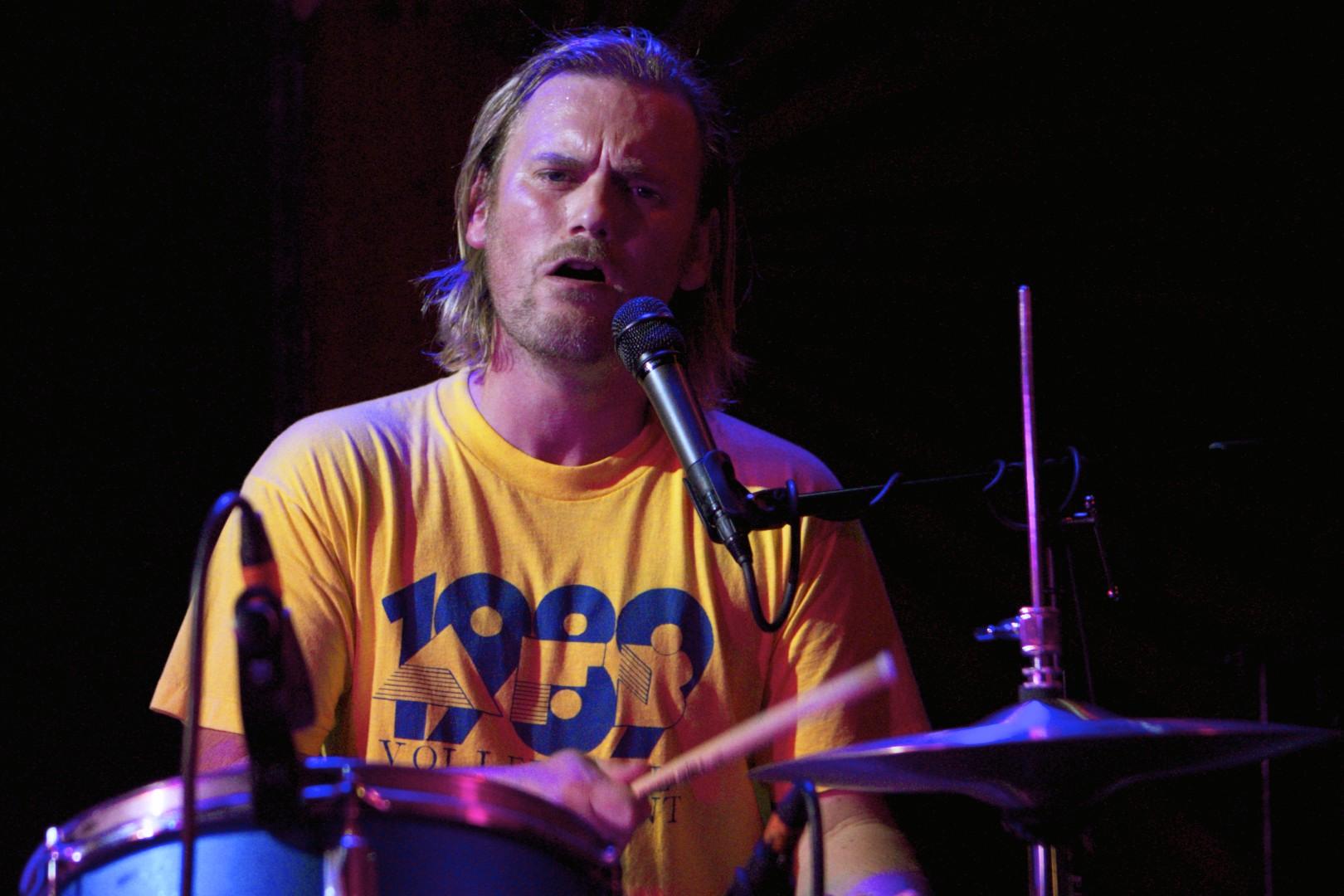 Il producer e musicista dei Portishead Geoff Barrow, oggi 42enne