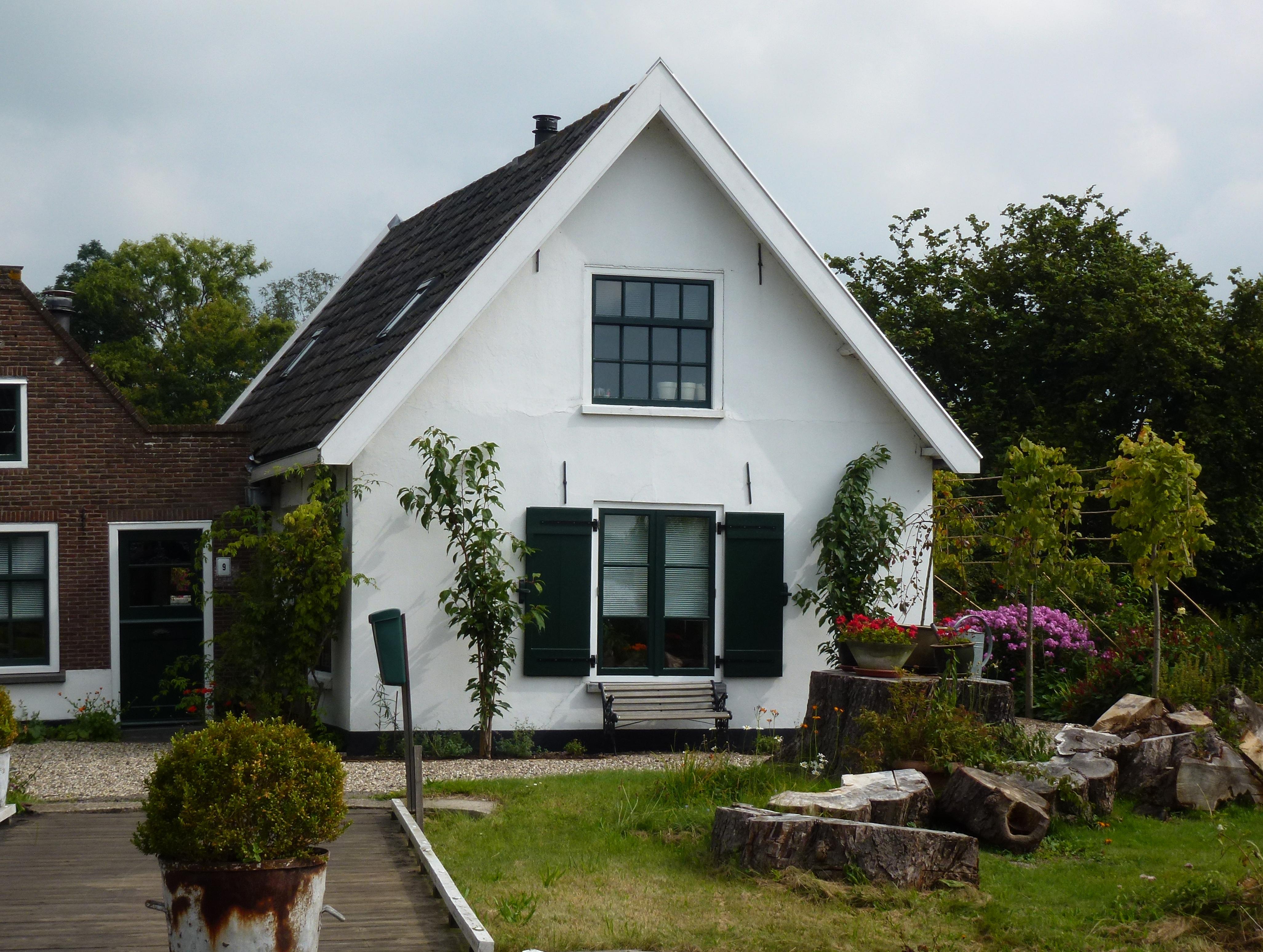 File gepleisterd huis 39 s gravenbroekseweg 9 vooraanzicht reeuwijk zuid - Huis bourgeois huis ...