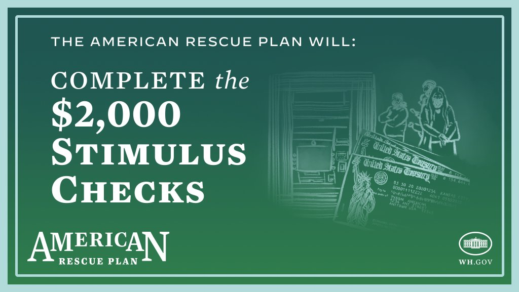 English Graphic about stimulus check for American Rescue Plan