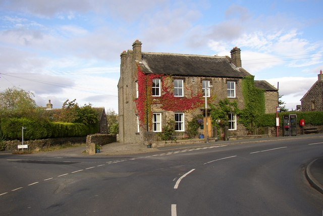 House on the bend, The Village, Farnley Tyas - geograph.org.uk - 559891