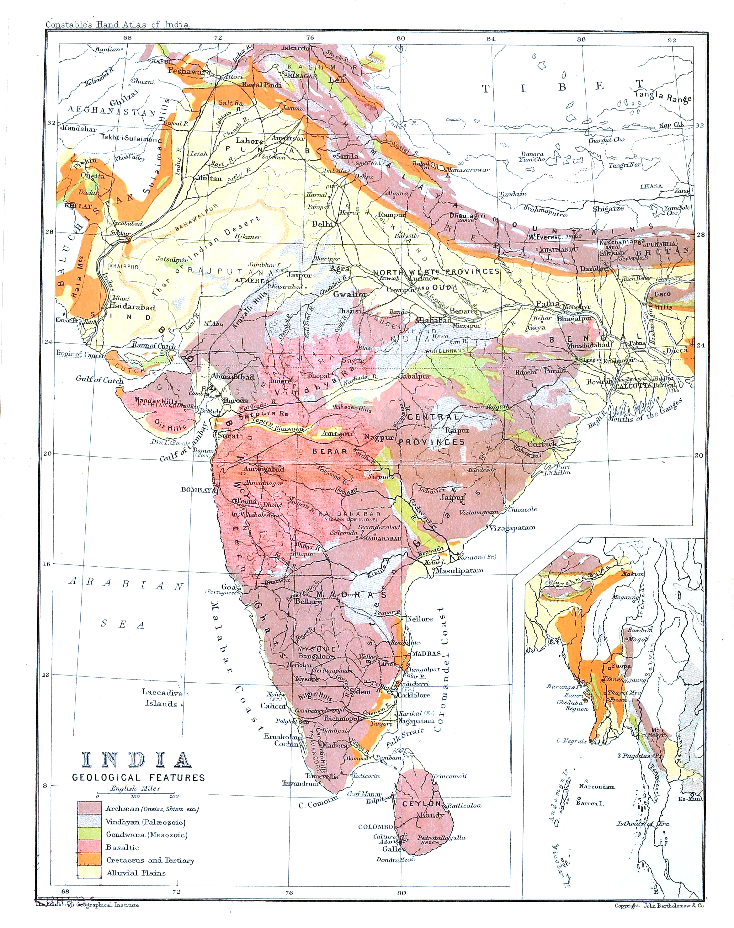 Geological Map Of India.File India In 1893 Geological Features Jpg Wikimedia Commons