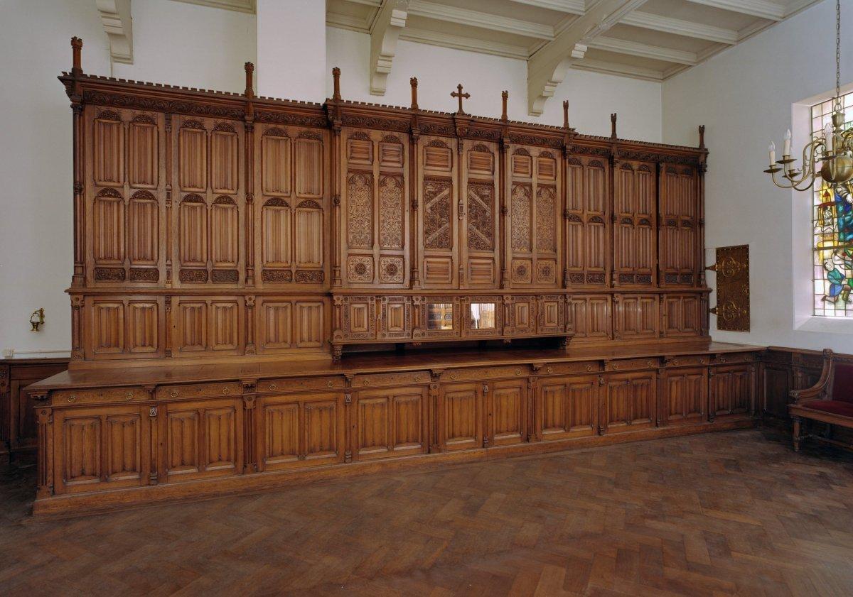 File interieur kast in de sacristie vervaardigd door de for Melchior interieur den haag