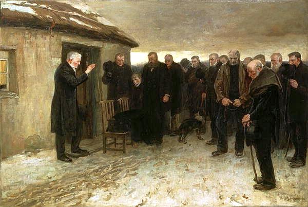 James Guthrie, A Highland's Funeral, 1881, Kelvingrove Art Gallery, Glasgow, Scotland.