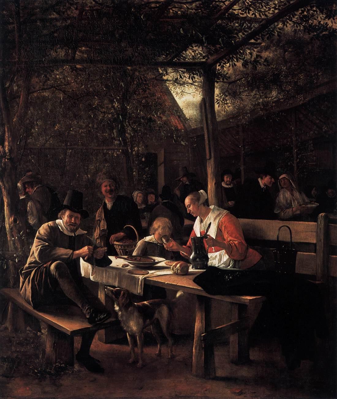 File Jan Steen Tavern Garden Wga21725 Jpg Wikimedia