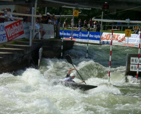 Canoe slalom in Augsburg, Germany