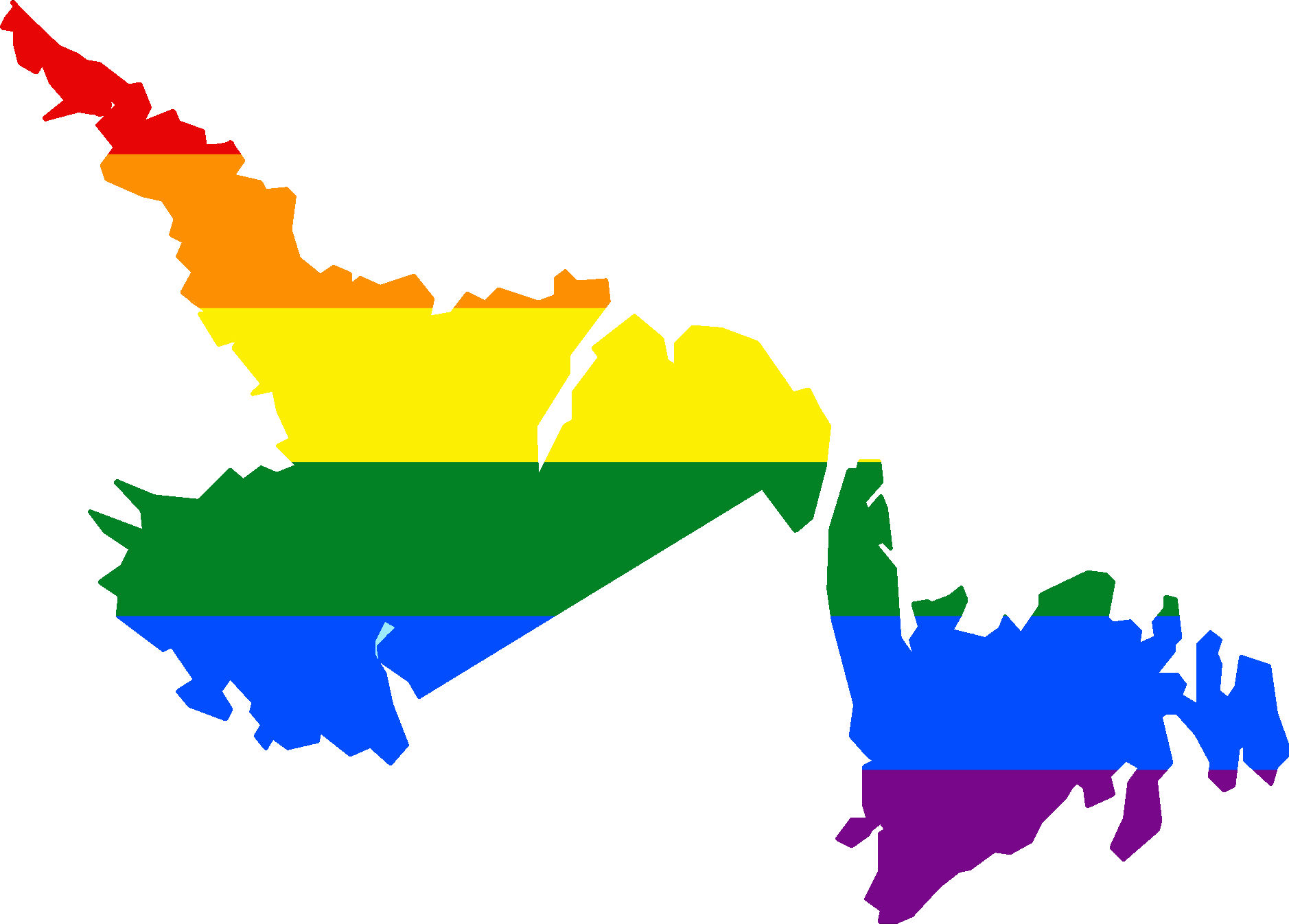 FileLGBT Flag Map Of Newfoundland And Labradorpng Wikimedia - Newfoundland and labrador map