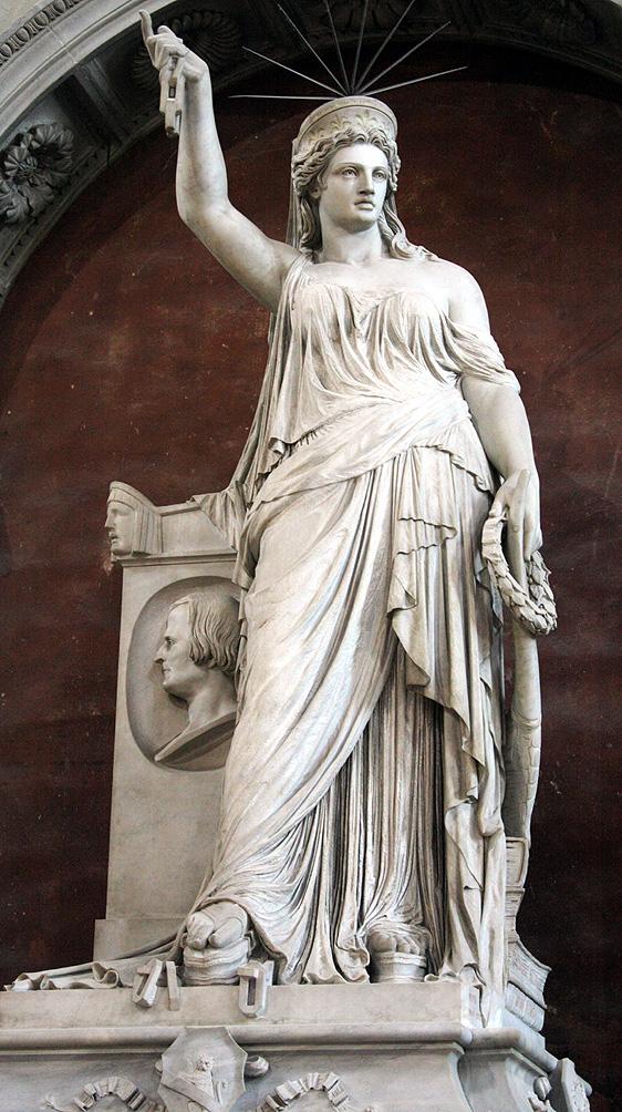Pio Fedi, Memorial monument to the poet Giovanni Battista Niccolini (Basilica of Santa Croce, Florence)