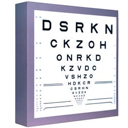 photo relating to Children's Eye Chart Printable named LogMAR chart - Wikipedia