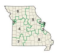 Missouri districts in these elections