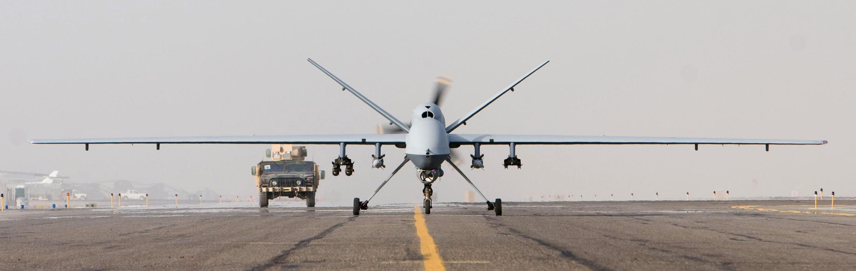 MQ 9 Afghanistan takeoff 1 Oct 07