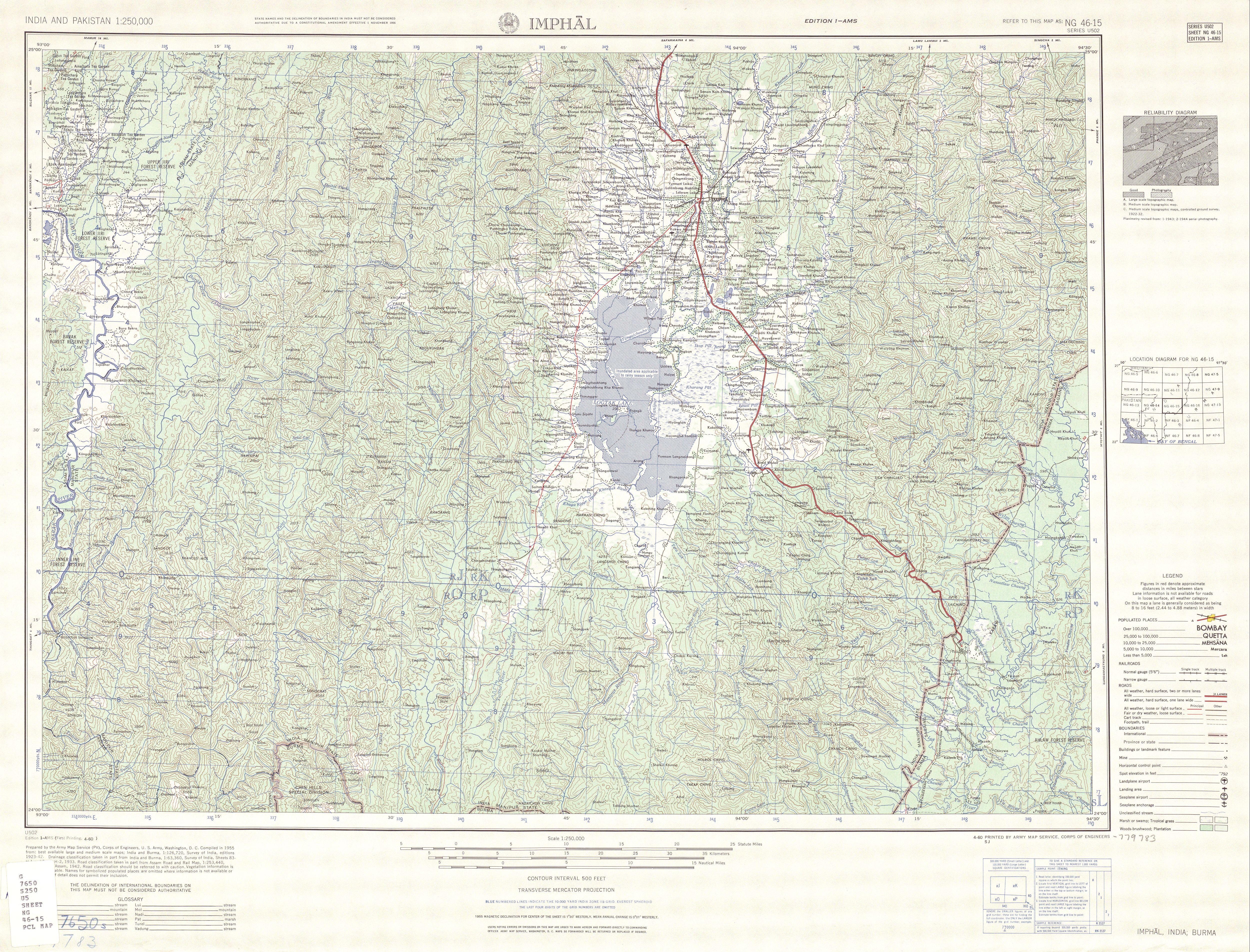 File Map India And Pakistan 1 250 000 Tile Ng 46 15 Imphal Jpg