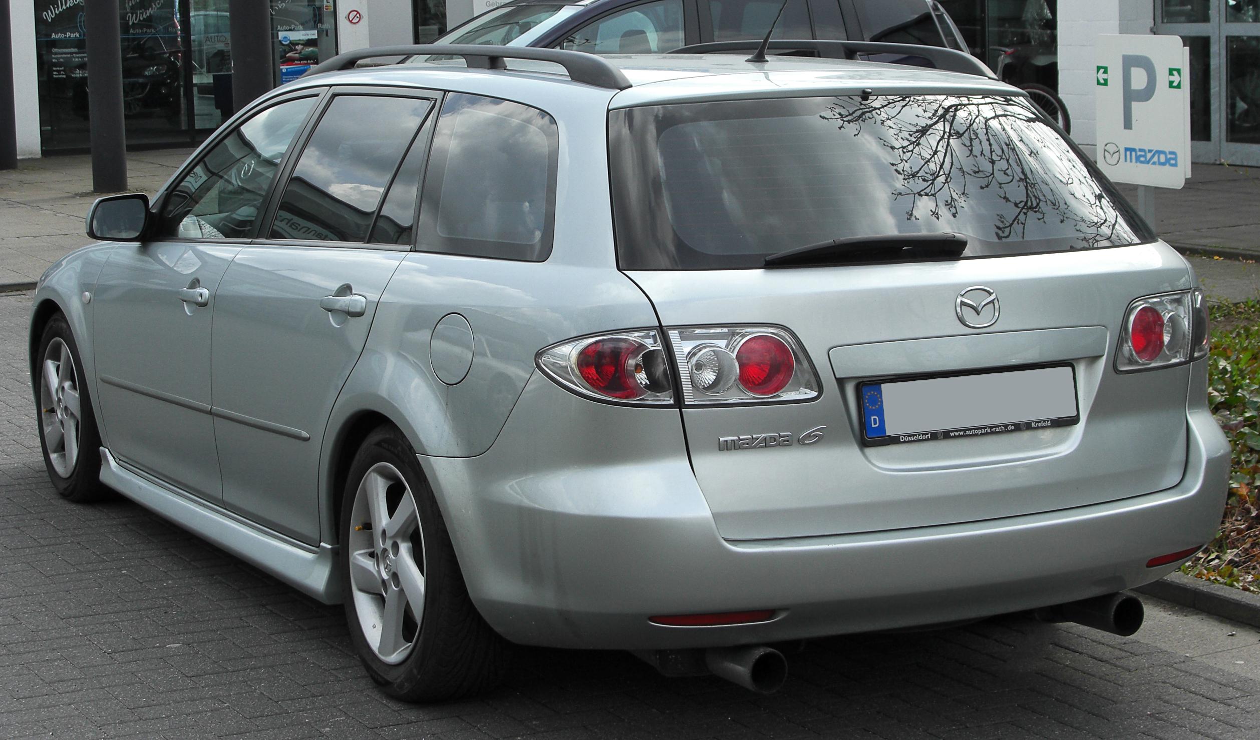 Mazda 6 Wiki >> File:Mazda6 Sport Kombi I rear 20100405.jpg - Wikimedia Commons