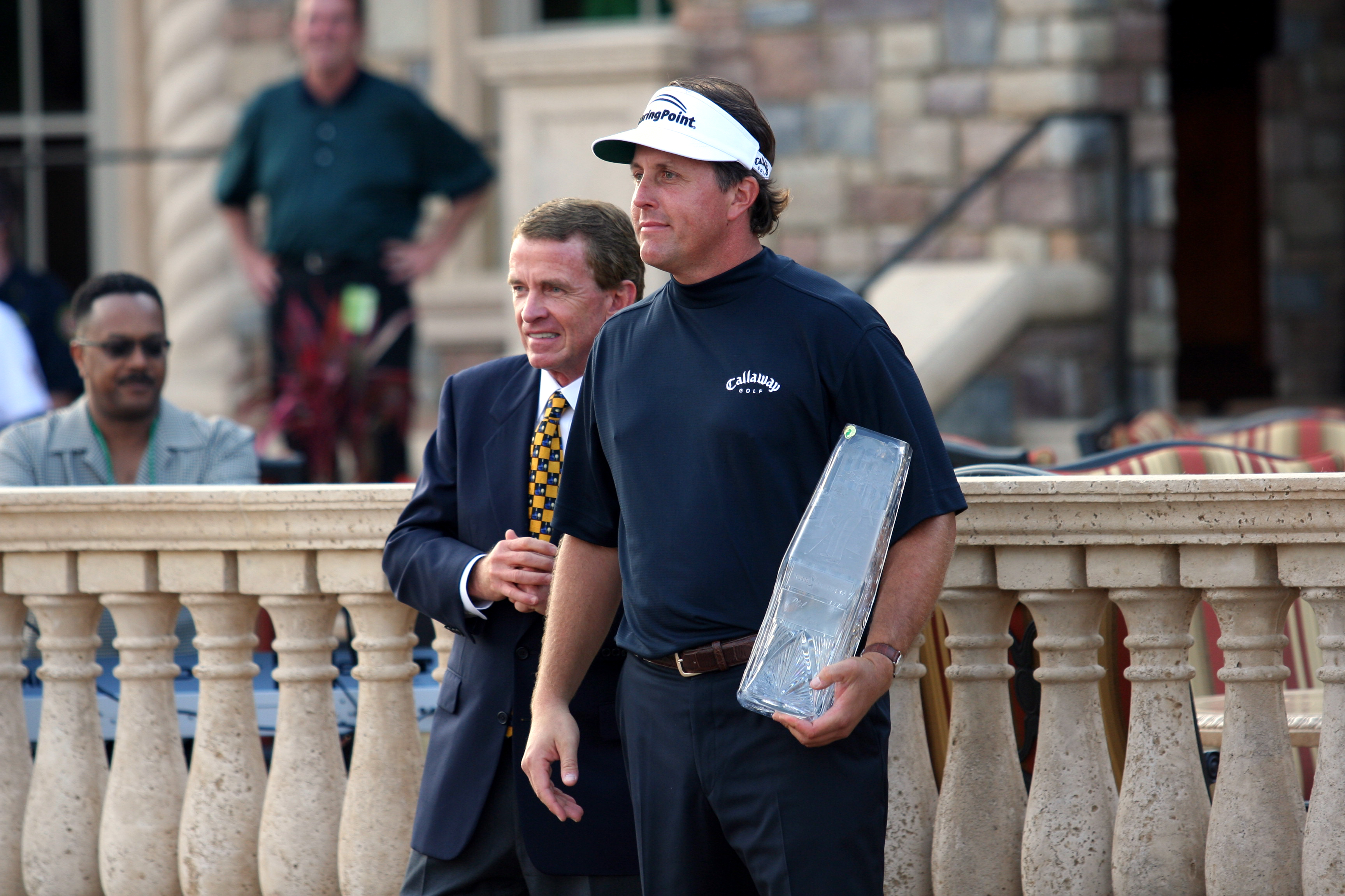 PGA Tour commissioner Tim Finchem and Phil Mic...