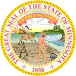 The Minnesota state seal.