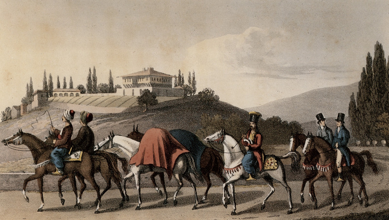 File:Modes of travelling in Turkey, coloured copper engraving by W Turner.jpg