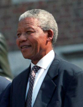 President Bill Clinton with Nelson Mandela, Ju...