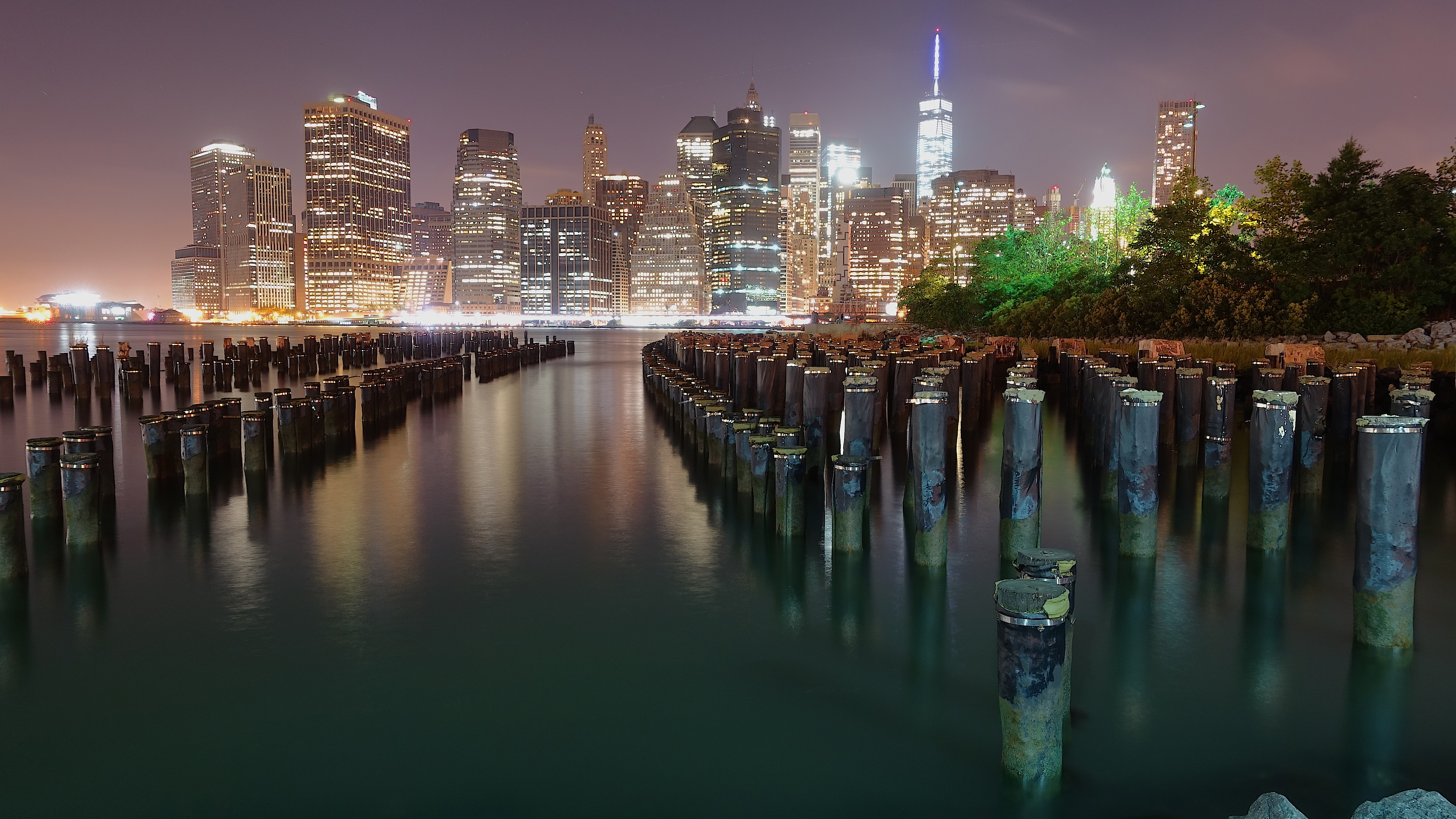File New York City Skyline Nyc At Night Kyle Kirschbaum Jpg Wikimedia Commons