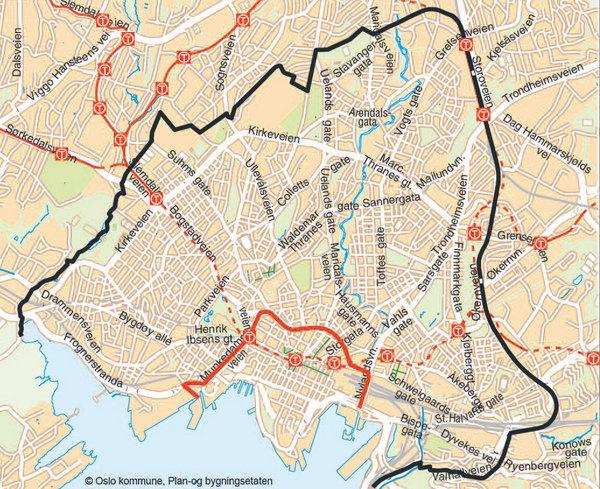 ring 3 oslo kart Indre og ytre by i Oslo – Wikipedia ring 3 oslo kart