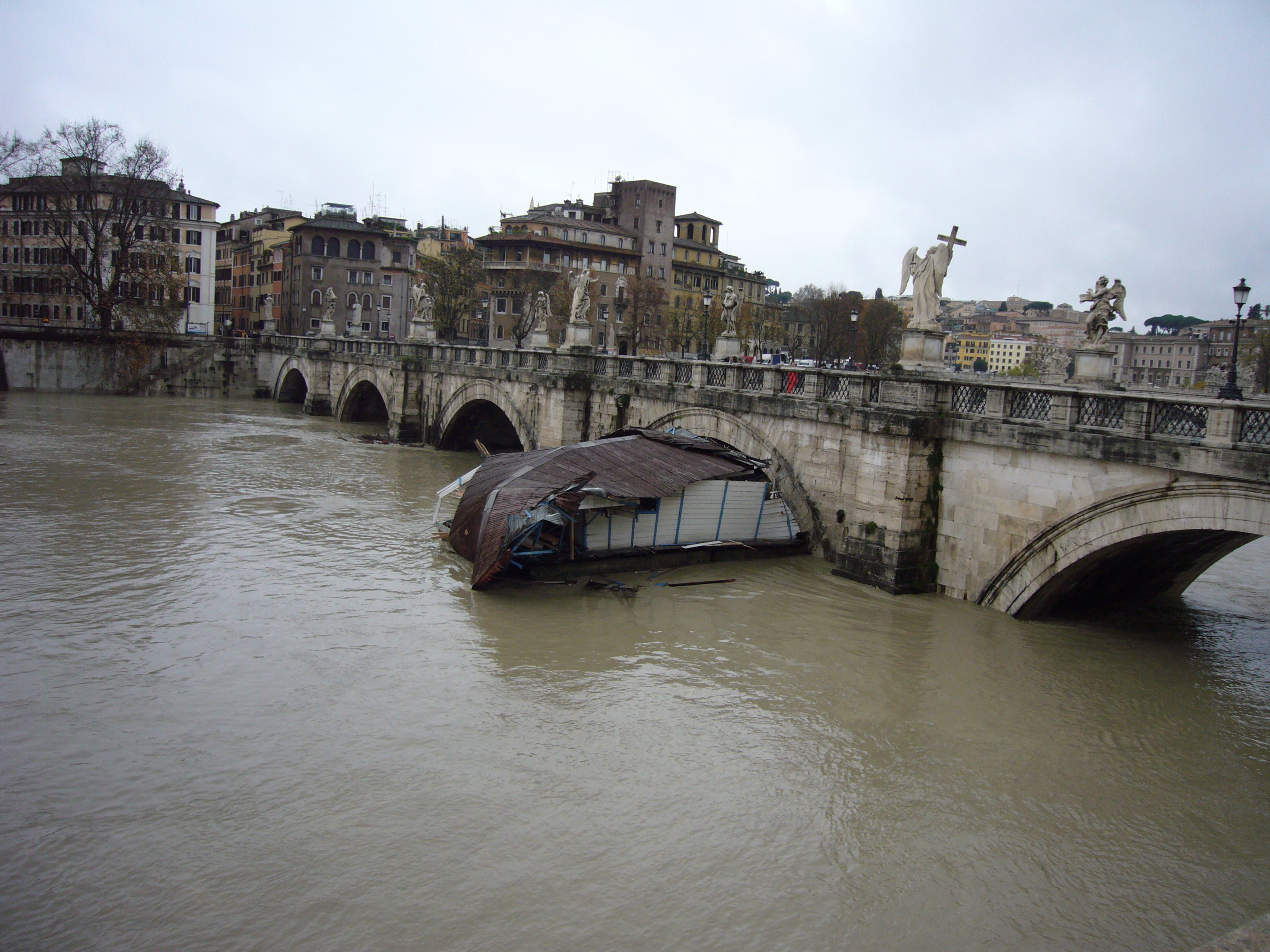 street map of rome with File Piena Del Tevere   Tiber In Flood   Ponte Sant 27angelo   Rome  Italy   12 Dec  2008 on A Meeting Two Ancient Empires Chinese Skeletons Roman Cemetery Promise Rewrite History moreover 4607096759 furthermore Roma together with Ferries Food Films In Venice likewise Piazza Navona 28745.