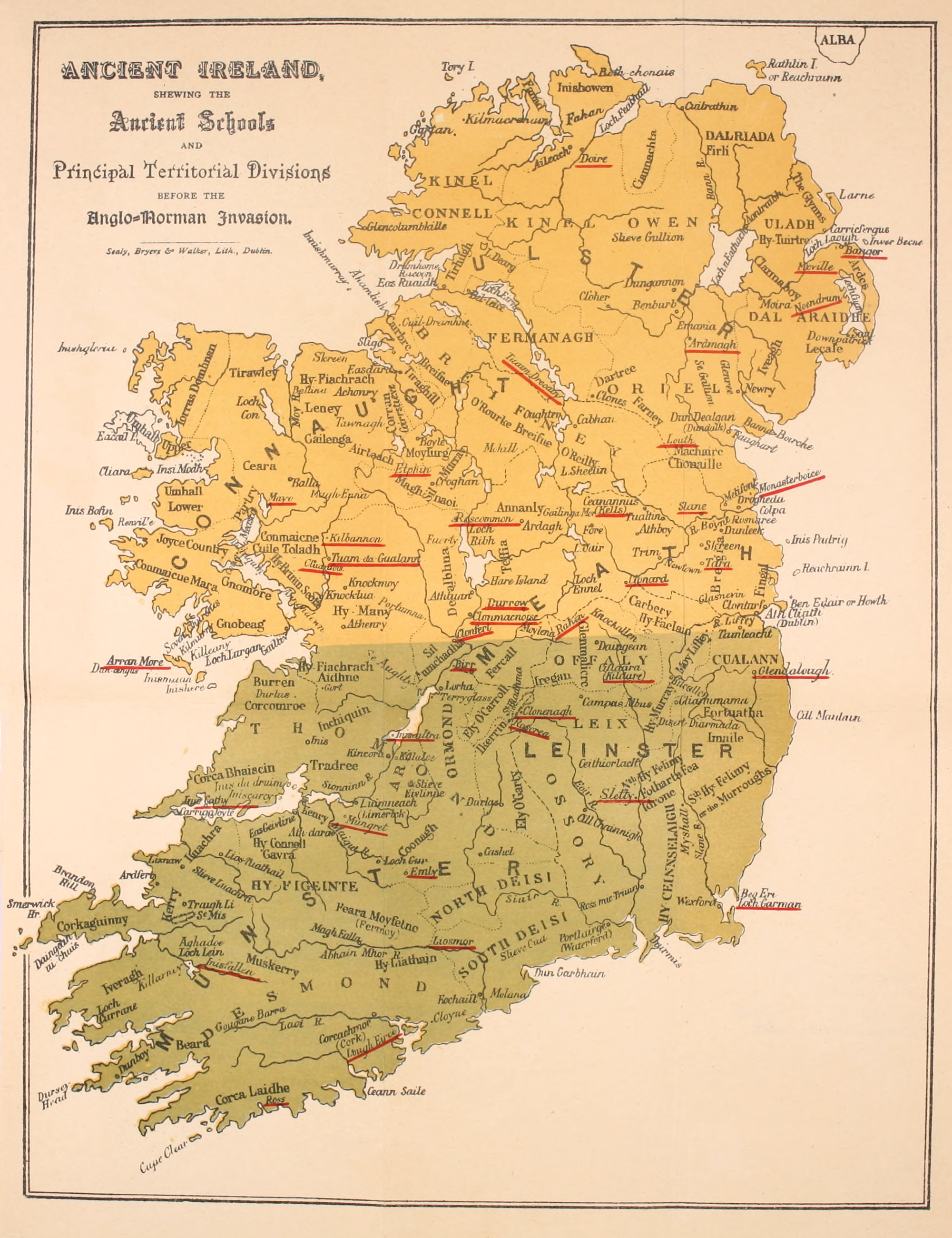 Ancient Map Of Ireland.File Pre Anglo Norma Invasion Irish Ancient Schools Map Jpg