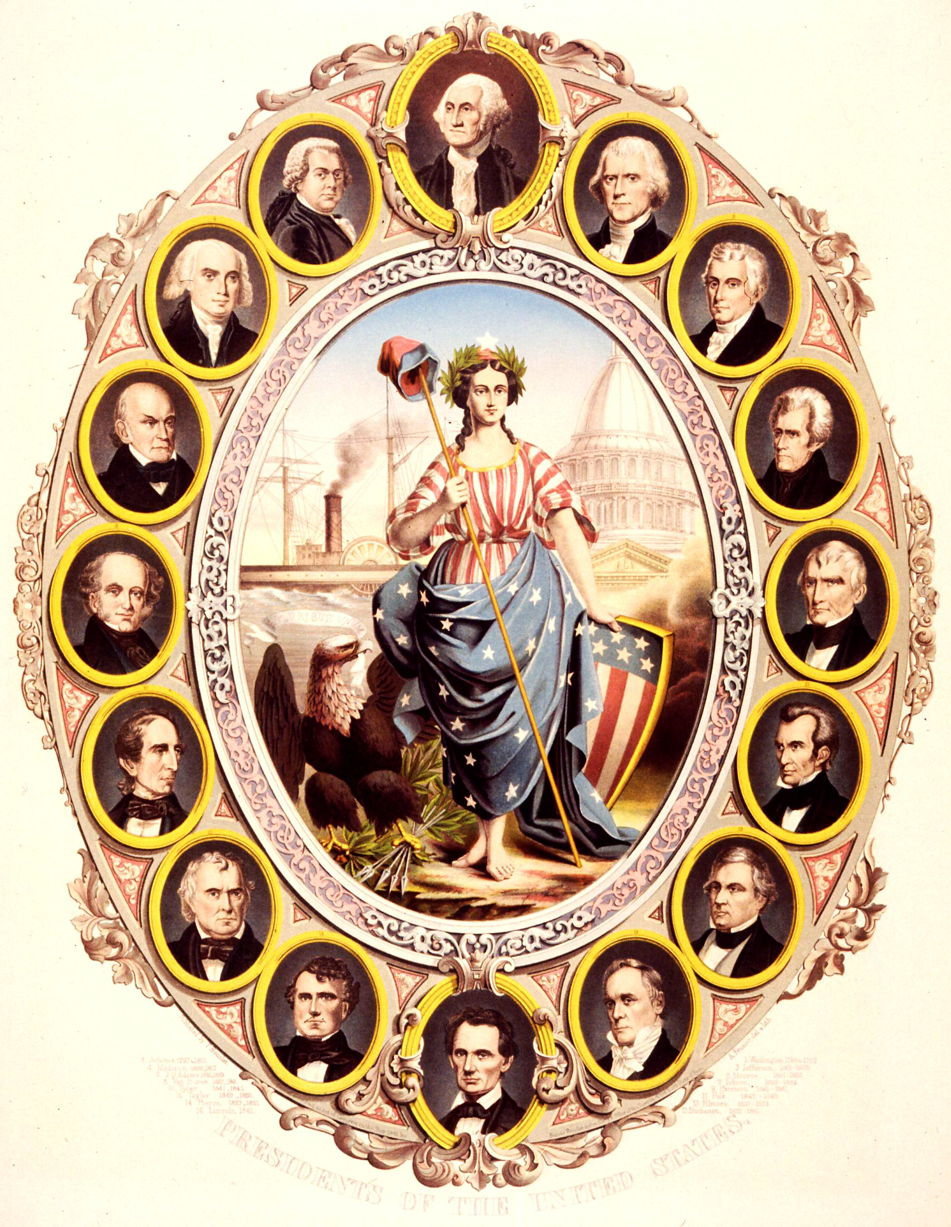 File Presidents Of The United States 1861 Jpg Wikimedia