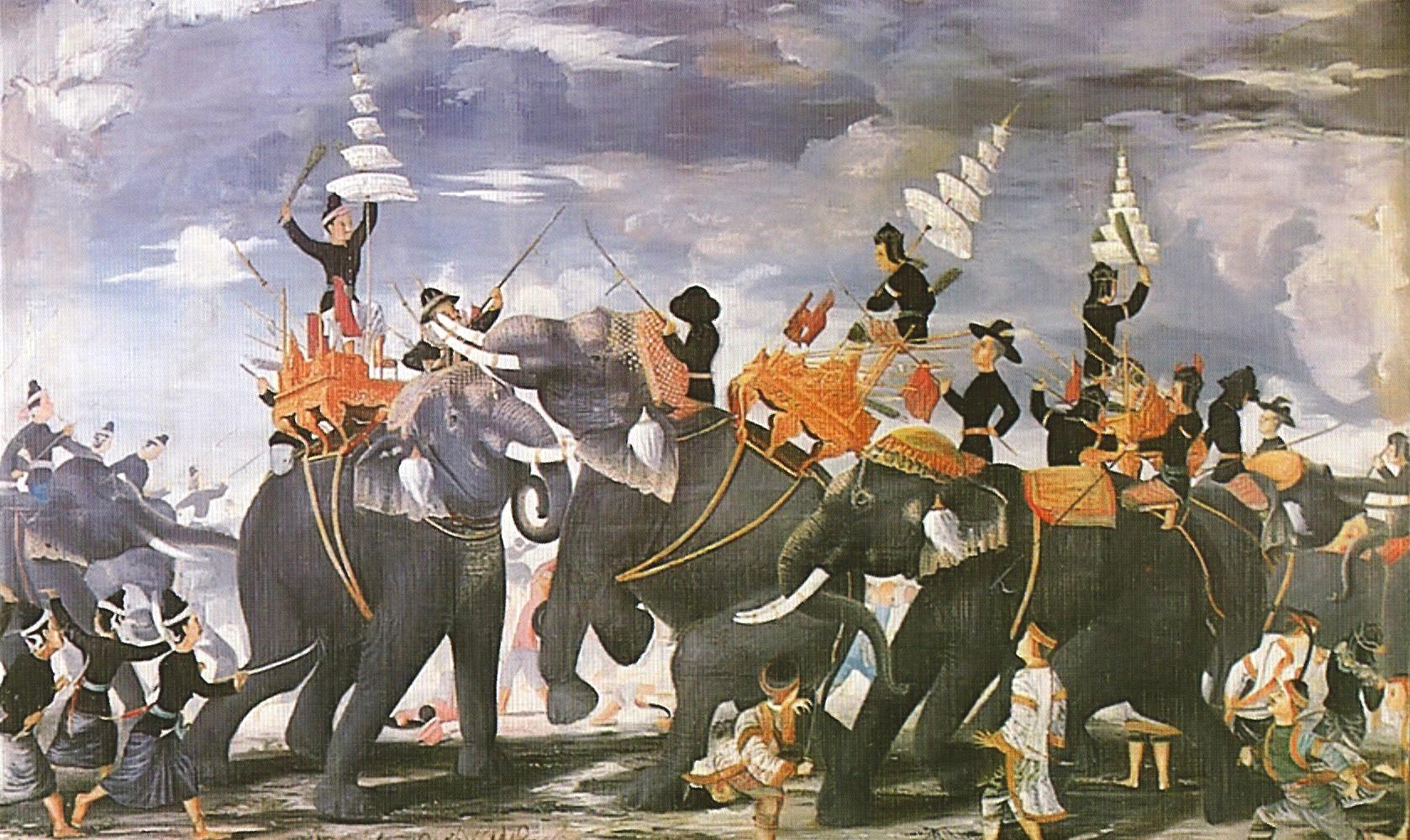 ไฟล์:Queen Suriyothai elephant combat.jpg