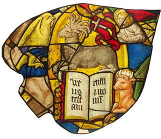 Rose window of Sainte-Chapelle (Paris) - Lamb with 7 horns