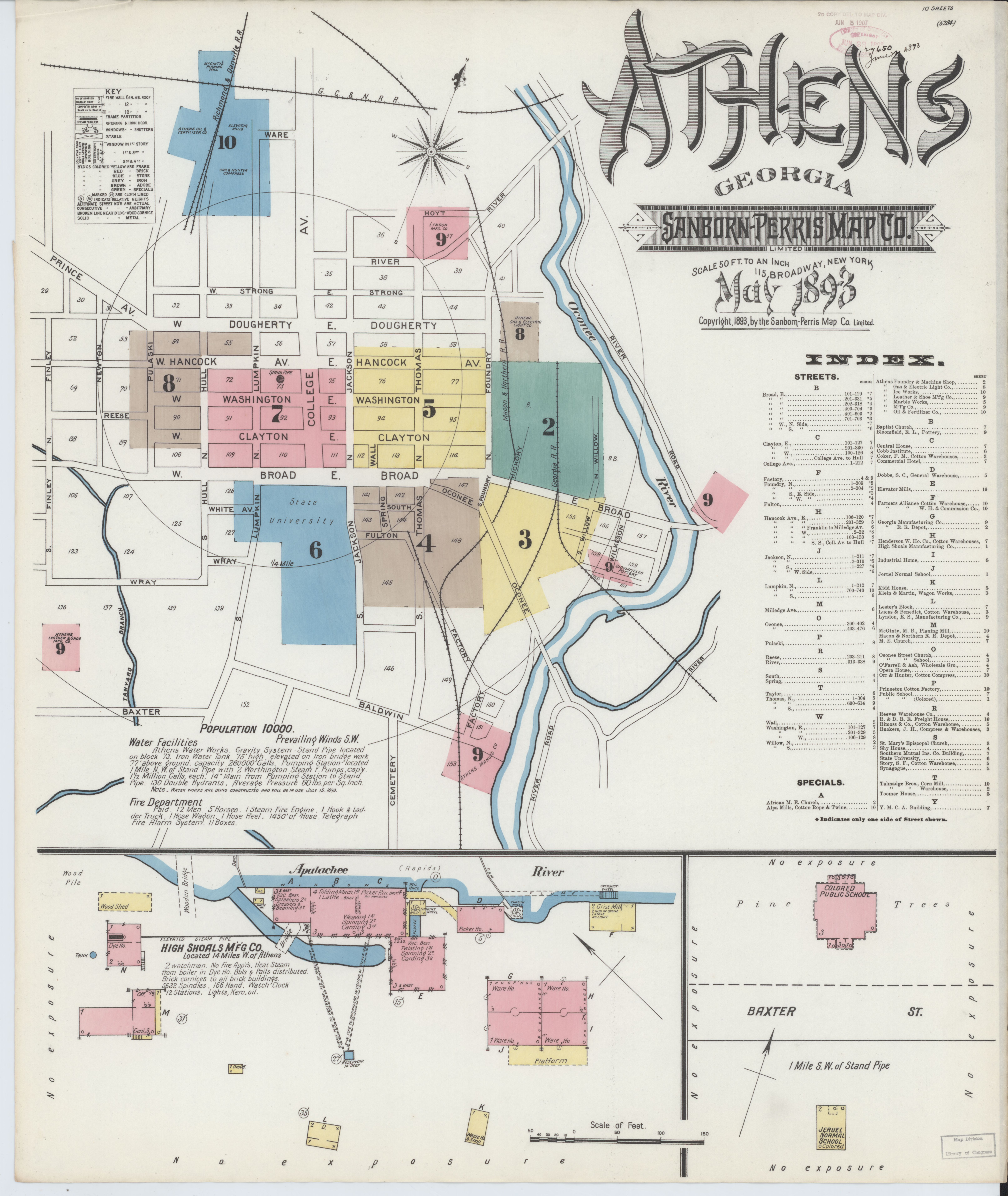Map Of Georgia Fire.File Sanborn Fire Insurance Map From Athens Clarke County Georgia