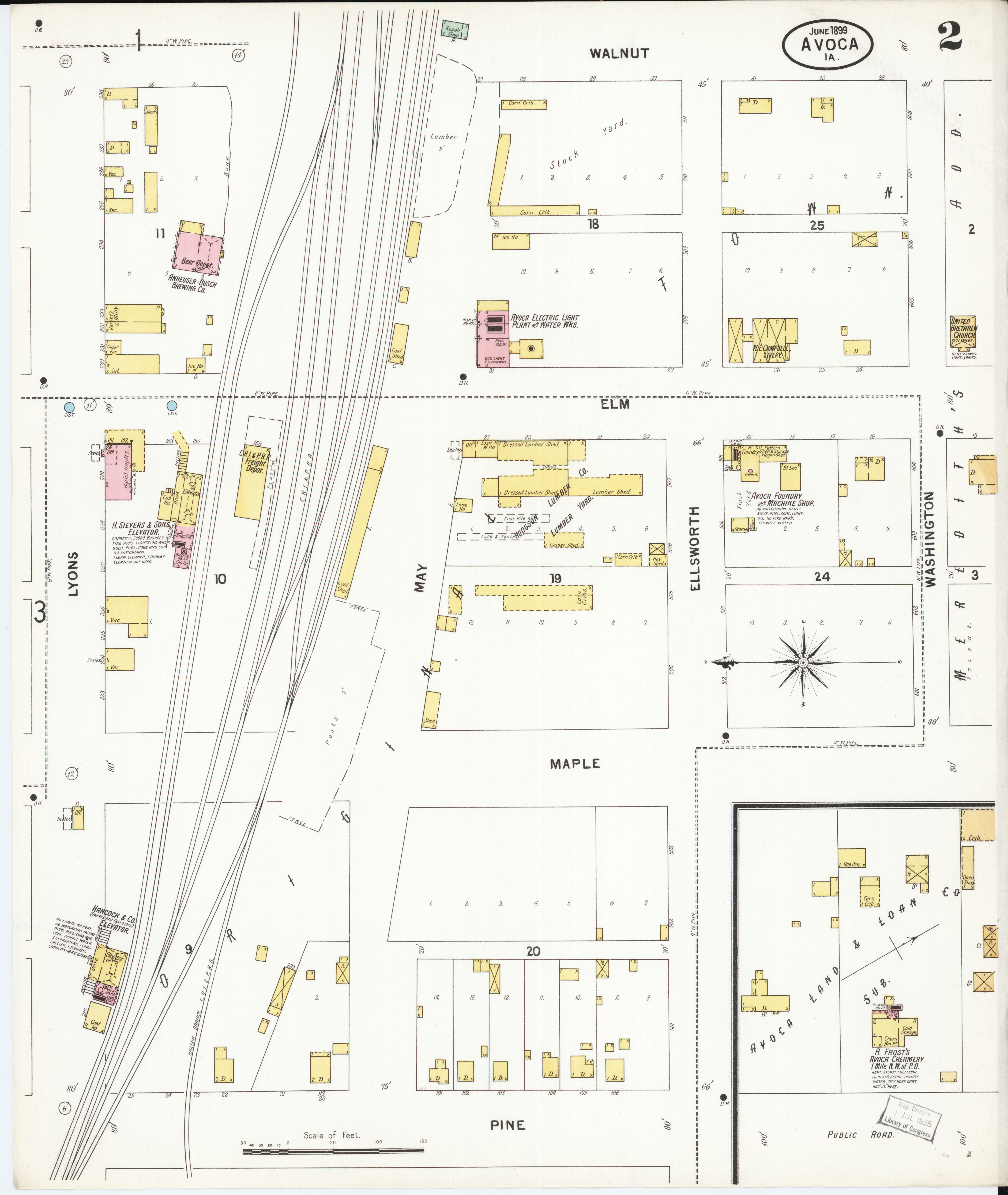 Avoca Iowa Map.File Sanborn Fire Insurance Map From Avoca Pottawattamie County