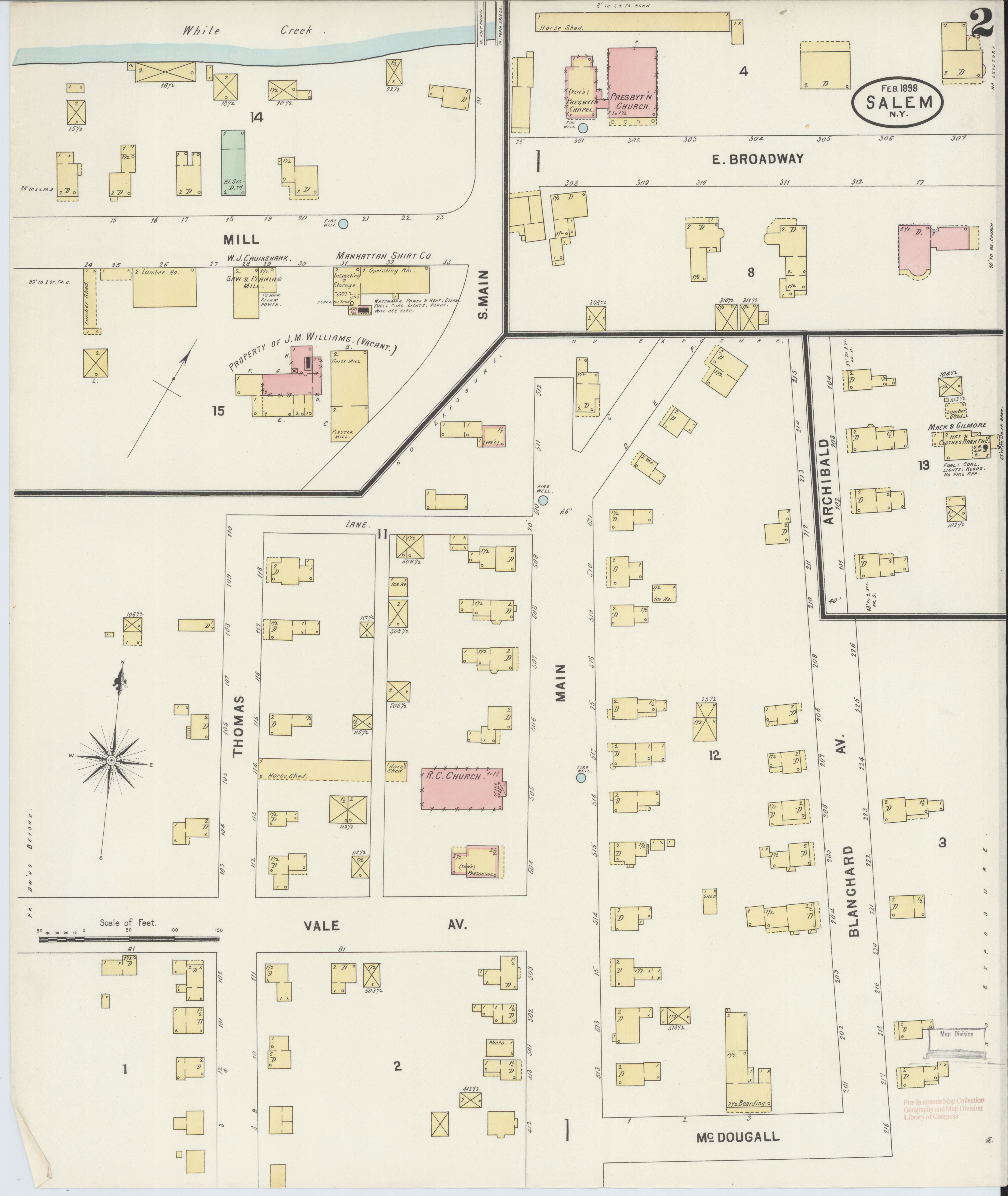 Salem New York Map.File Sanborn Fire Insurance Map From Salem Washington County New