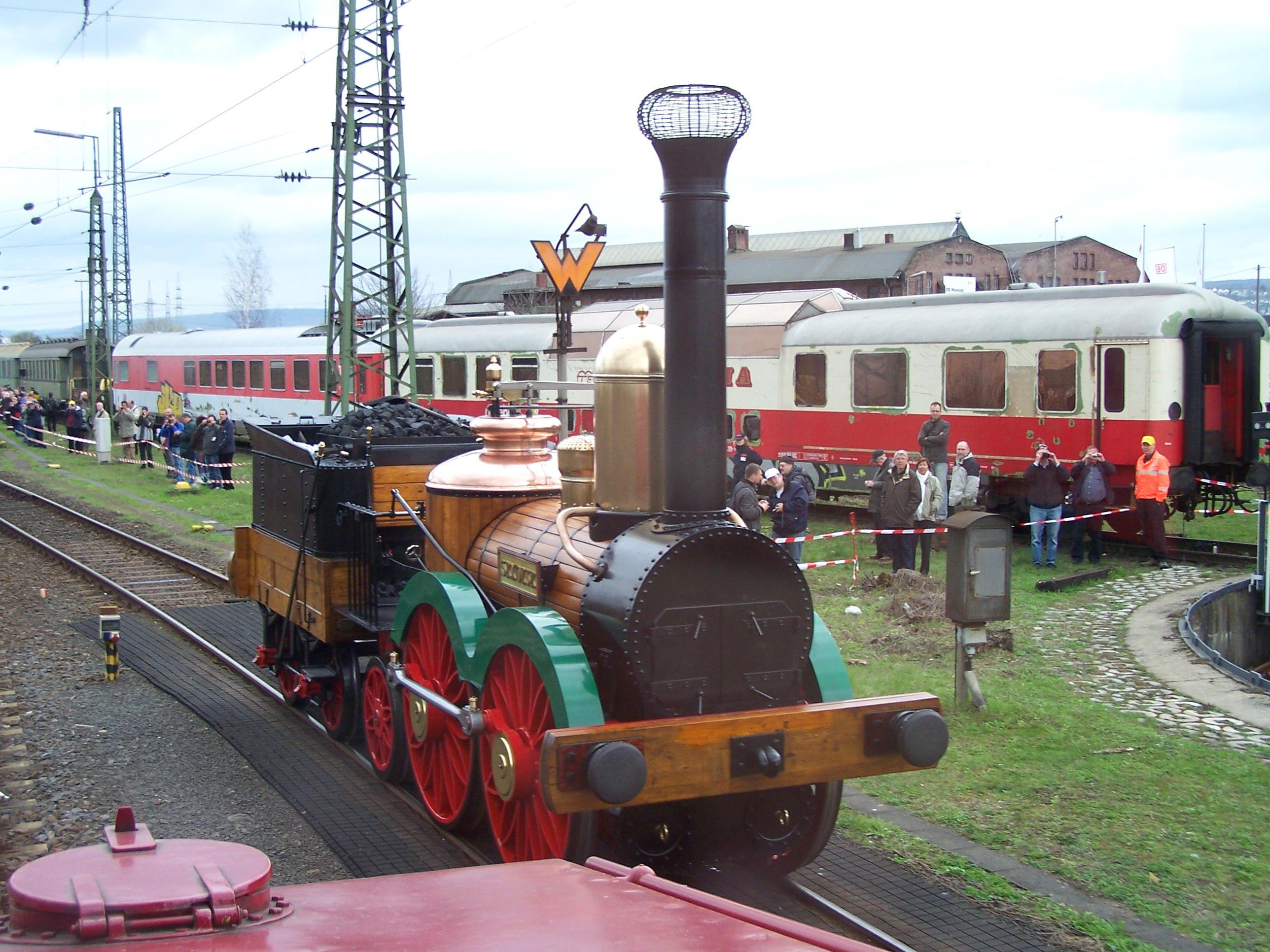 0-4-2 german vintage steam loco Saxonia from 1838