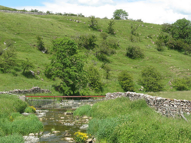 Scandal Beck downstream of Smardale Bridge - geograph.org.uk - 1406912