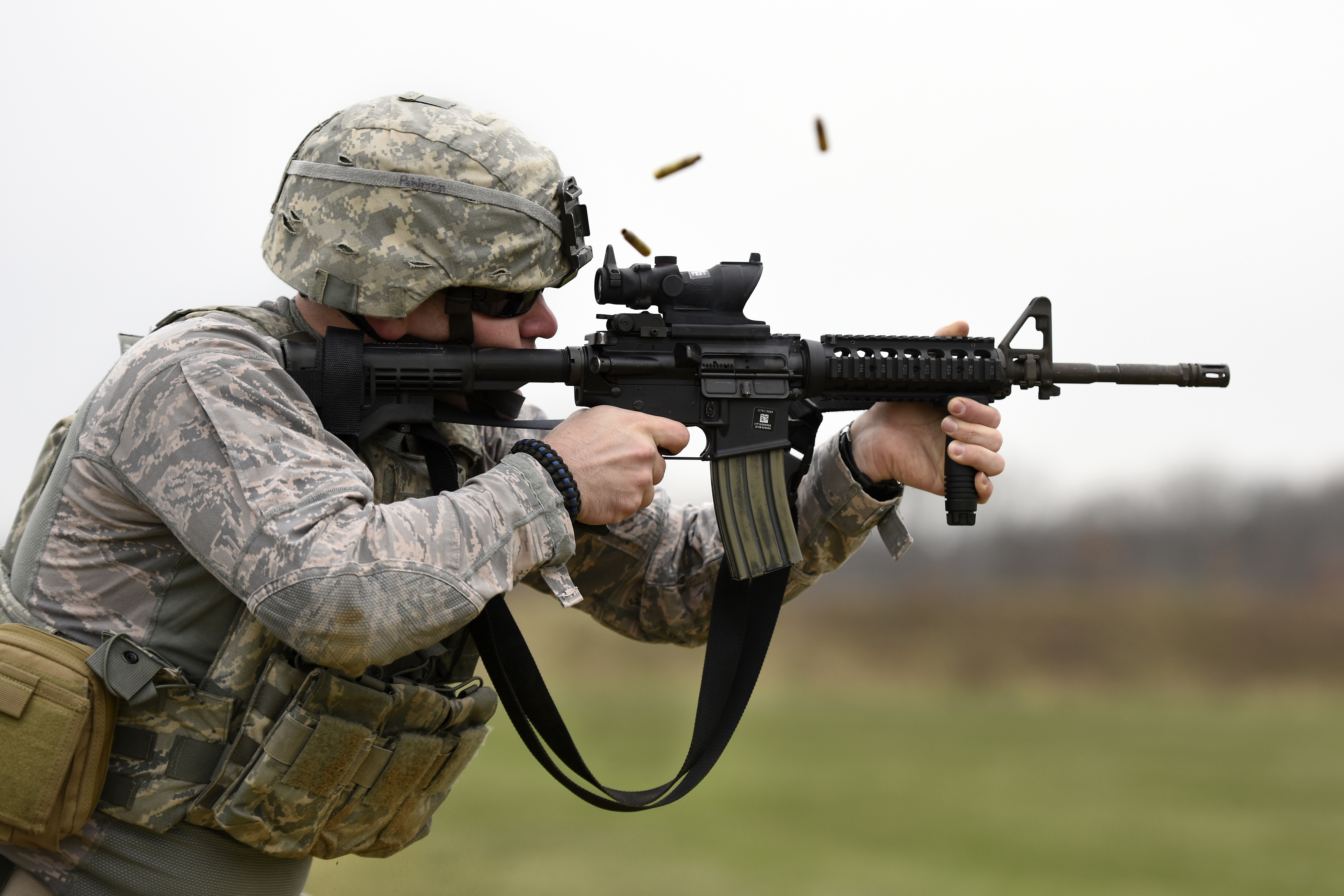 file senior airman benton pohlman fires an m4 carbine rifle