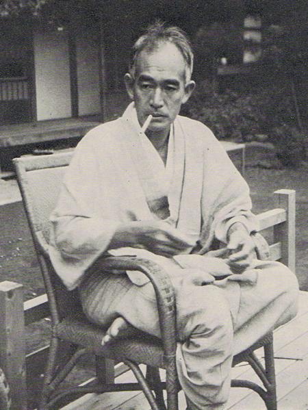 Shiga Naoya in 1938 at [[Suwacho, Tokyo]]