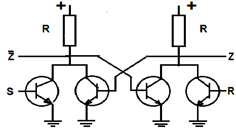 Simplified circuit diagram of Flip-Flop S-R.png