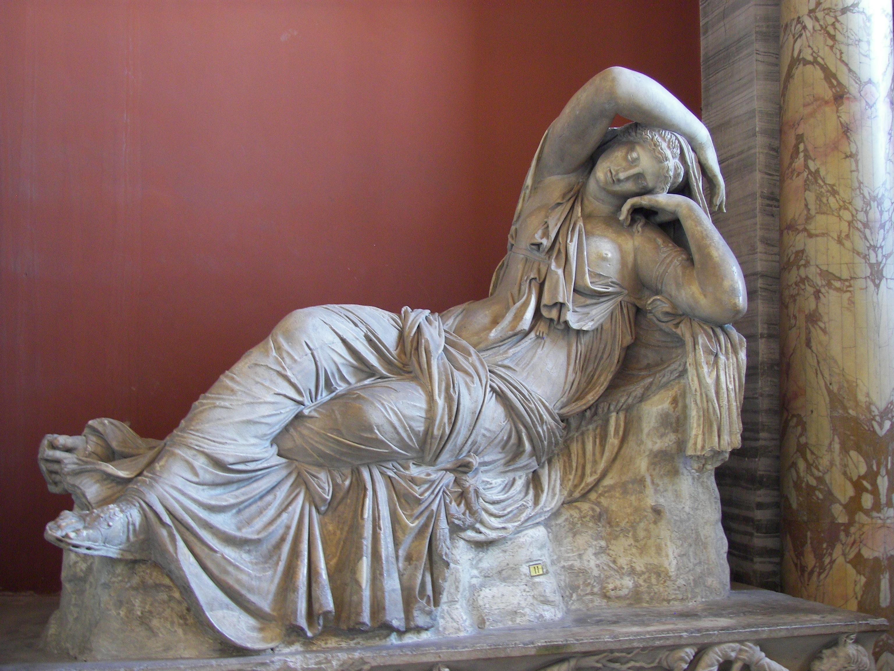 Ariadne adormecida, Vaticano, escultura helenística.