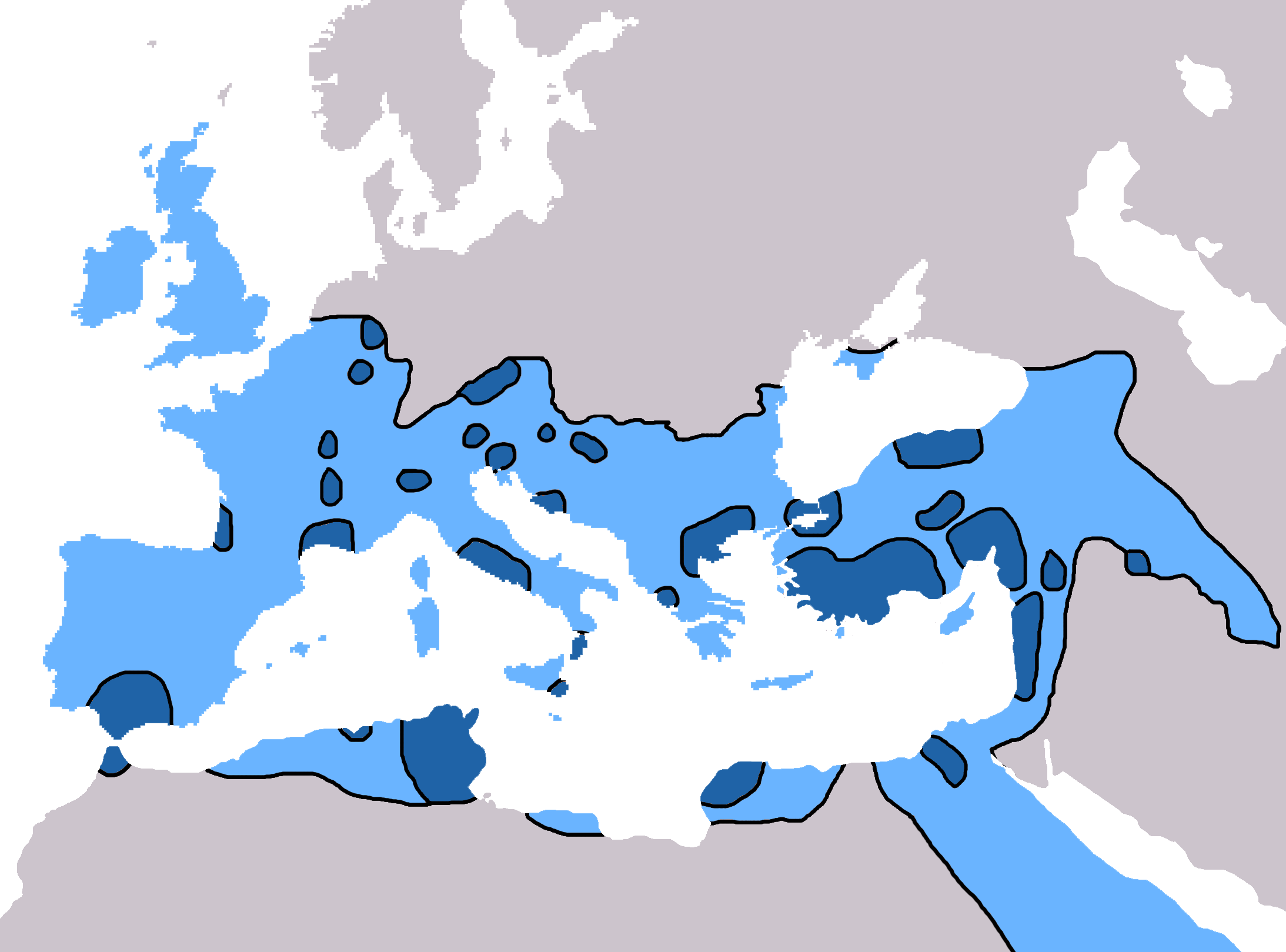 Map Of Ireland 600 Ad.Christianity In The 6th Century Wikipedia